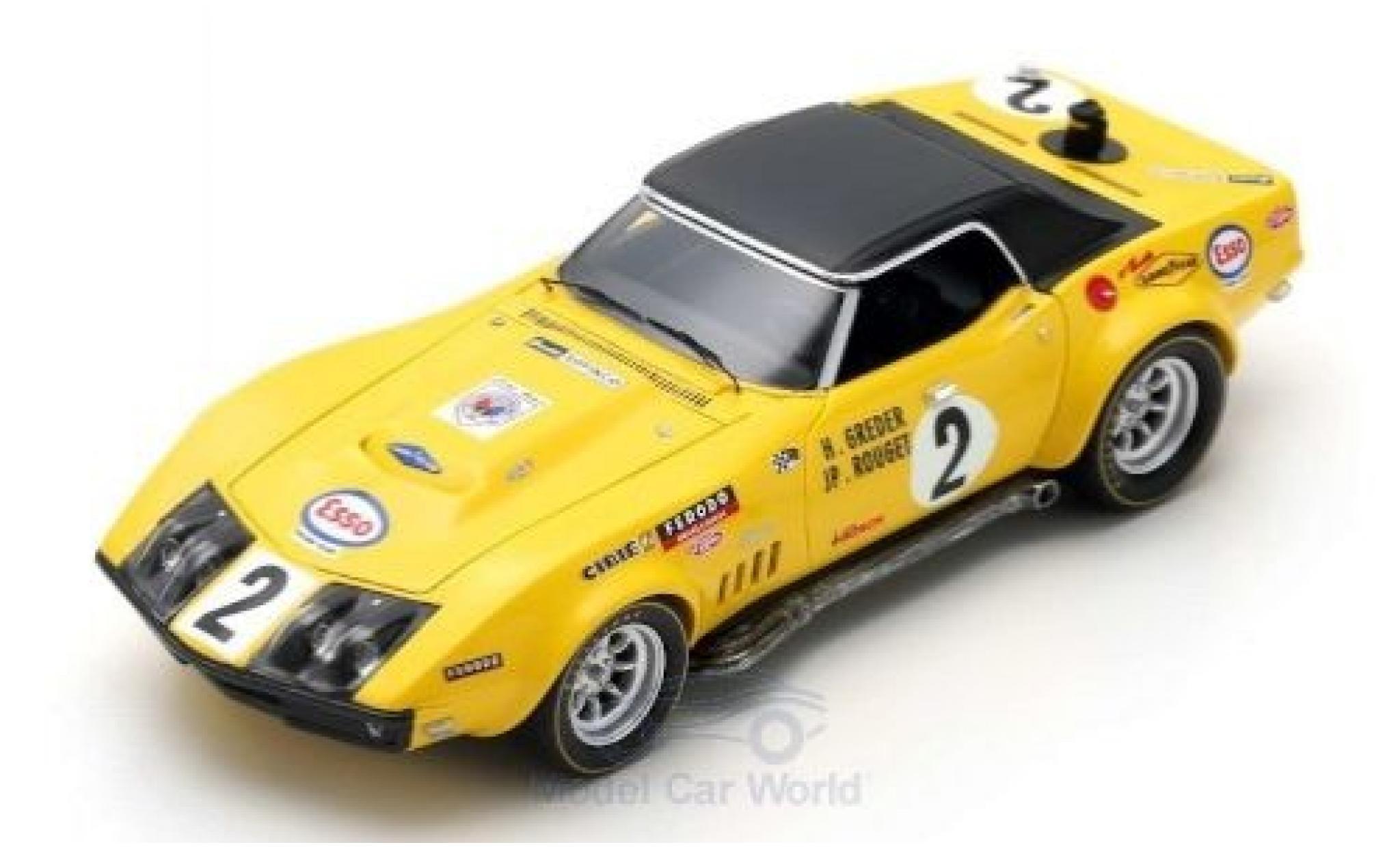 Chevrolet Corvette 1/43 Spark No.2 24h Le Mans 1970 H.Greder/J.P.Rouget