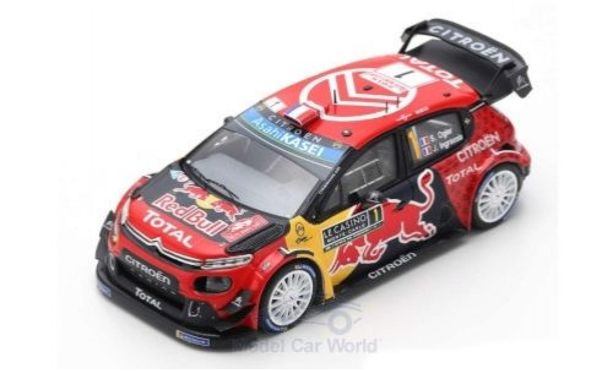 Citroen C3 1/43 Spark WRC No.1 Total WRT Red Bull WRC Rally Monte Carlo 2019 100th victory in WRC by S.Ogier/J.Ingrassia