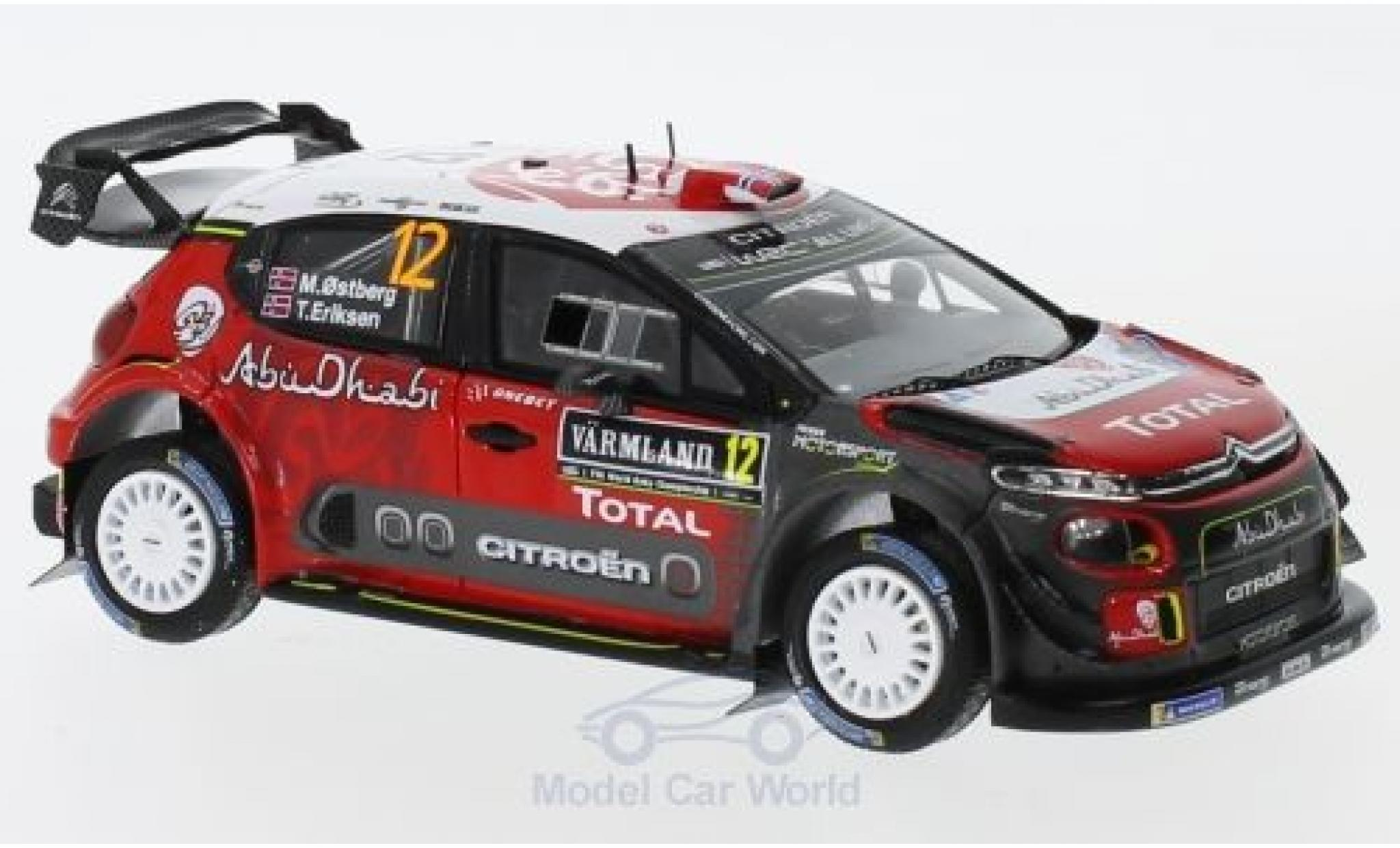Citroen C3 1/43 Spark WRC No.12 Total Abu Dhabi World Rally Team Rallye WM Rallye Schweden 2018 M.Ostberg/T.Eriksen