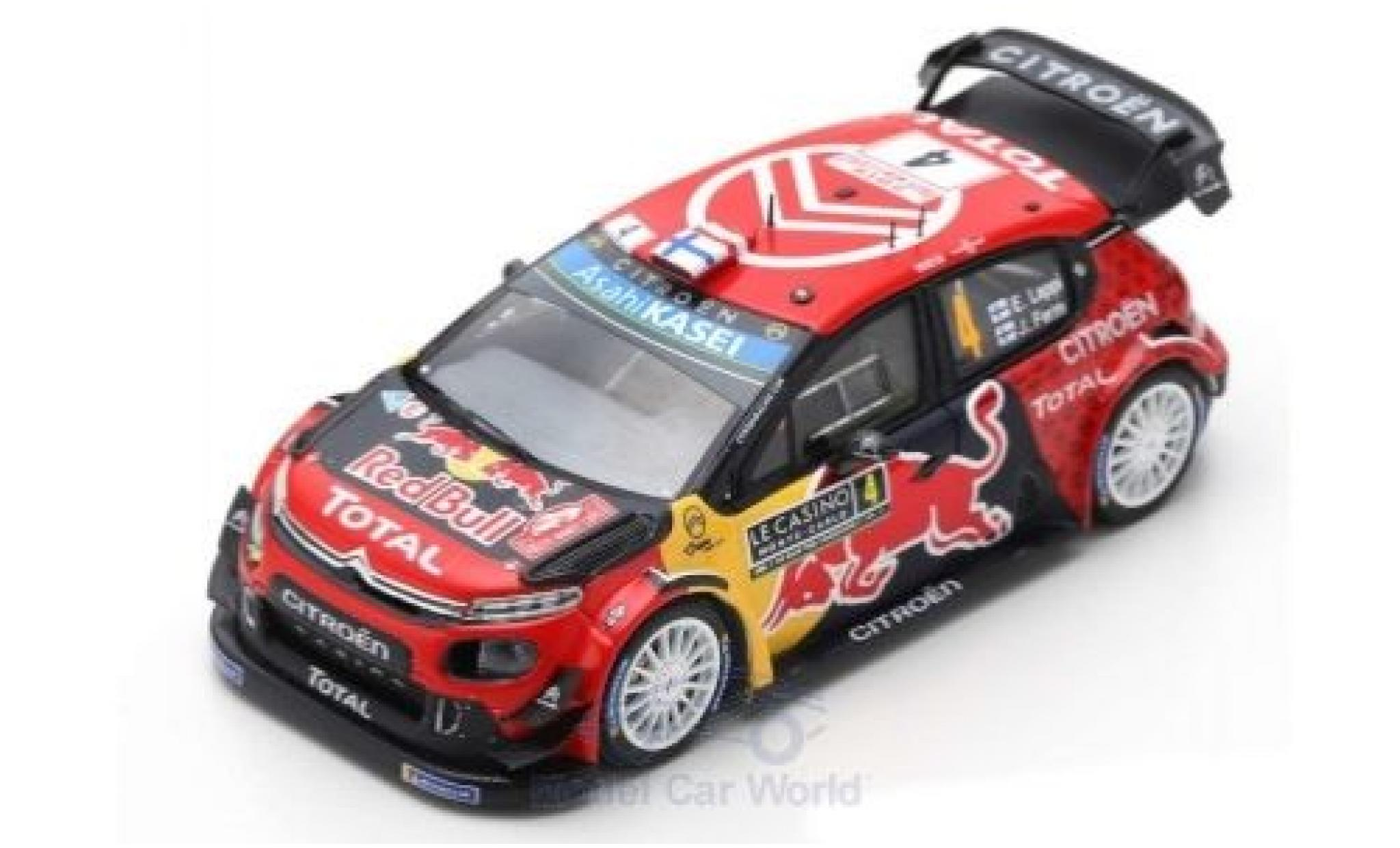 Citroen C3 1/43 Spark WRC No.4 Total WRT Red Bull WRC Rally Monte Carlo 2019 E.Lappi/J.Ferm