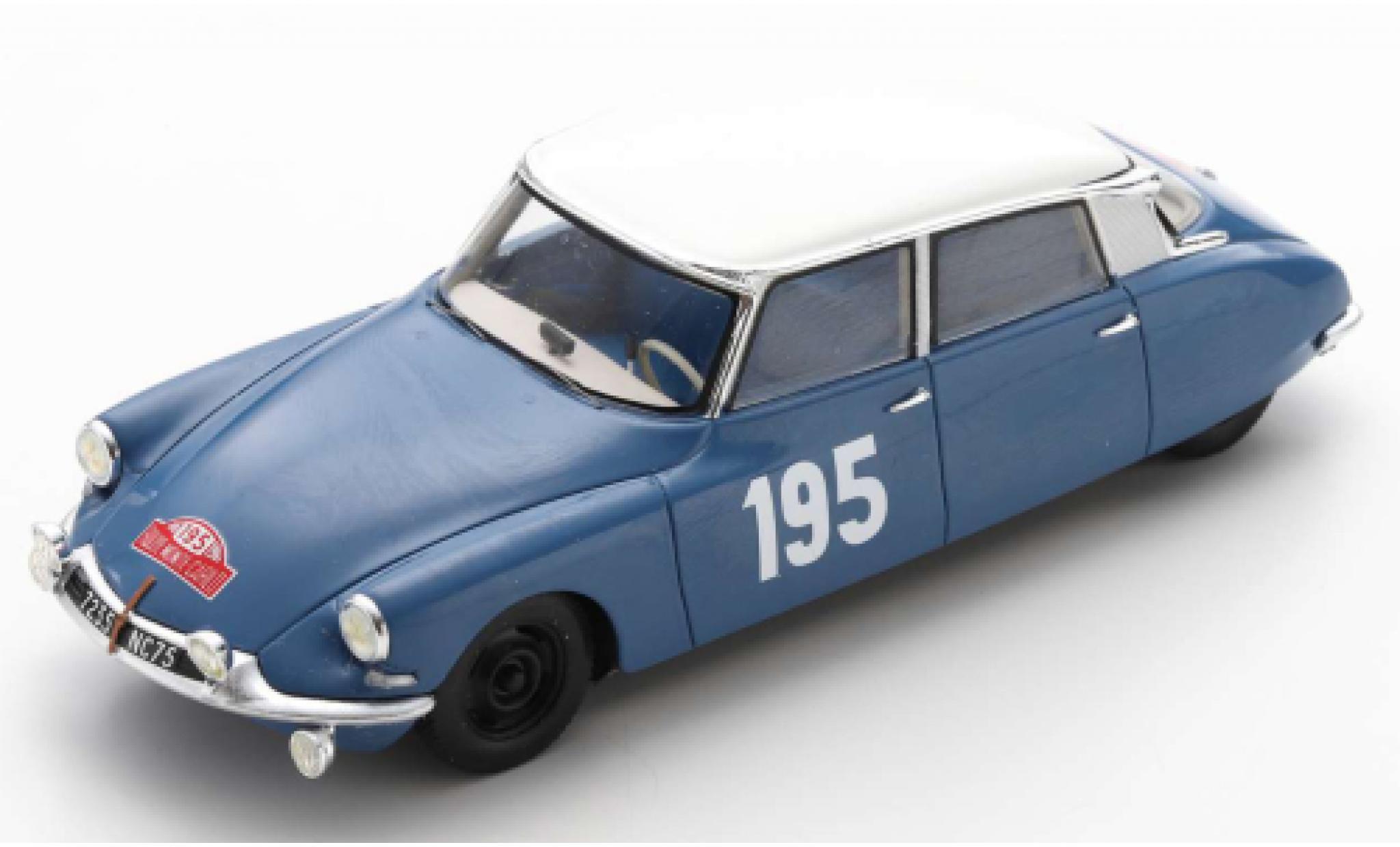 Citroen DS 1/43 Spark 19 No.195 Rallye Monte Carlo 1963 B.Neyret/J.Terramorsi