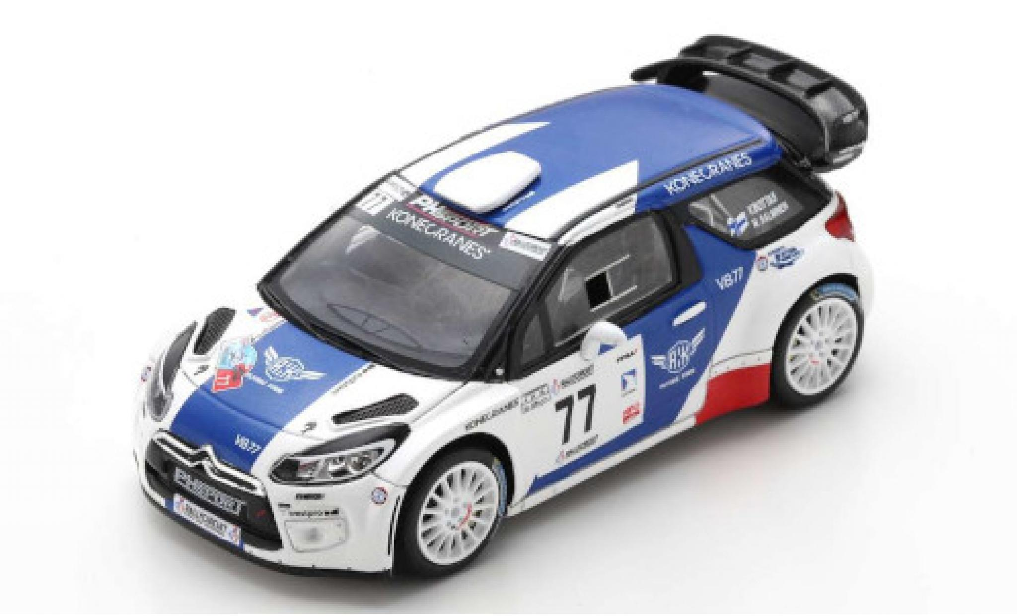 DS Automobiles DS3 1/43 Spark Citroen WRC No.77 PH Sport Rallye Circuit Cote d Azur 2019 V.Bottas/M.Salminen