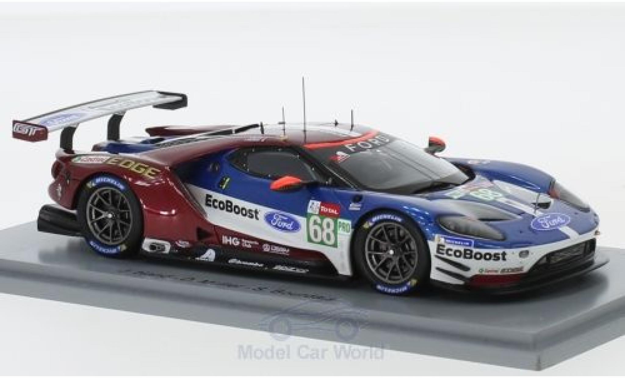 Ford GT 1/43 Spark No.68 Chip Ganassi Team USA 24h Le Mans 2018 J.Hand/D.Müller/S.Bourdais