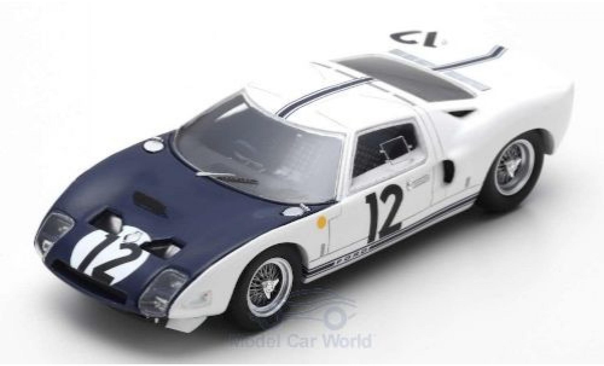 Ford GT 1/43 Spark RHD No.12 24h Le Mans 1964 J.Schlesser/R.Attwood