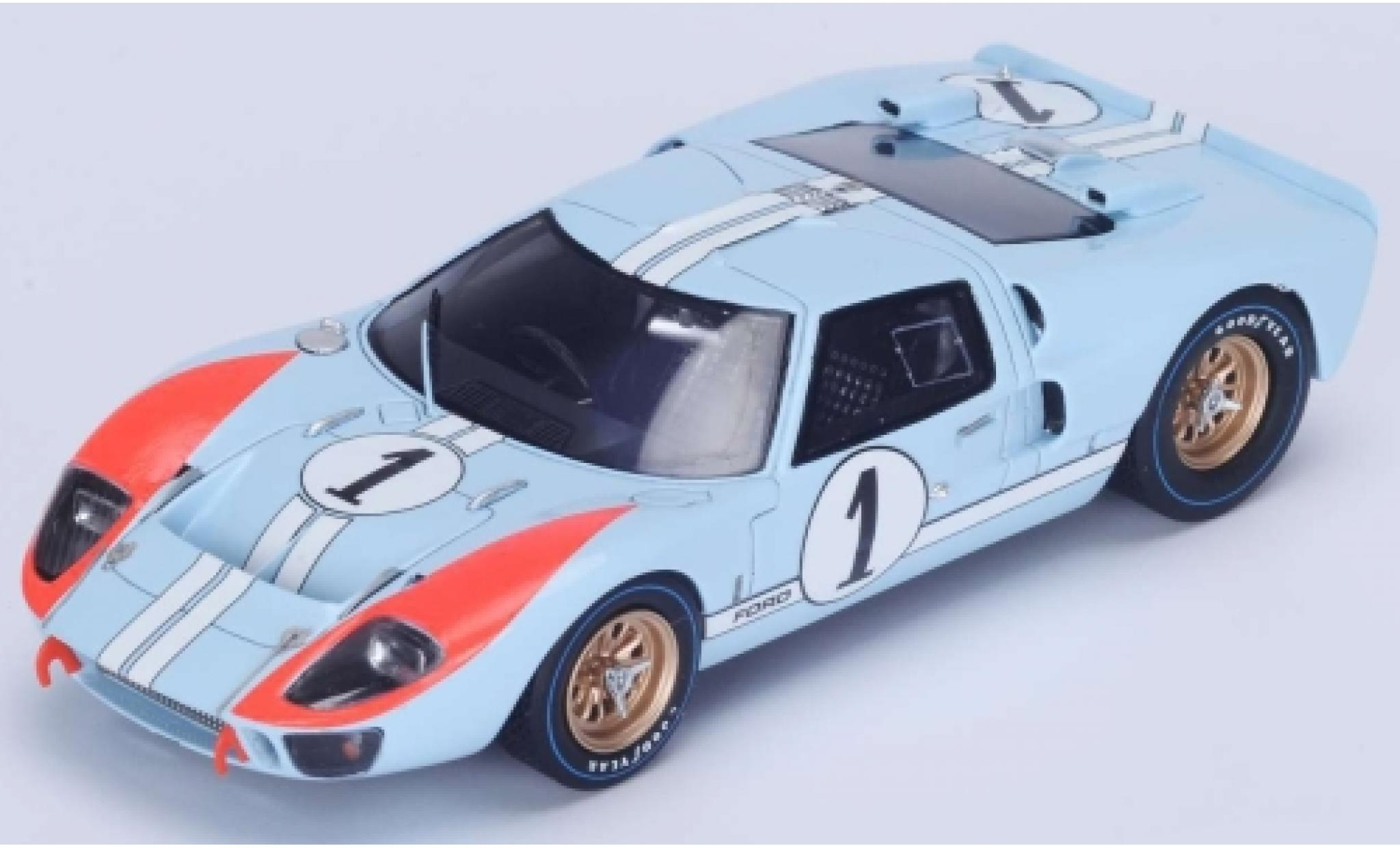 Ford GT40 1/18 Spark MkII No.1 24h Le Mans 1966 K.Miles/D.Hulme