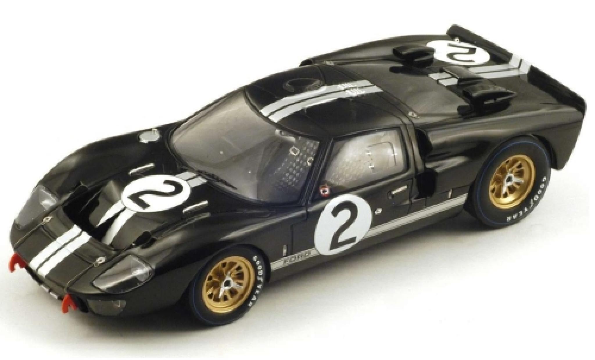 Ford GT40 1/18 Spark MkII No.2 24h Le Mans 1966 B.McLaren/C.Amon
