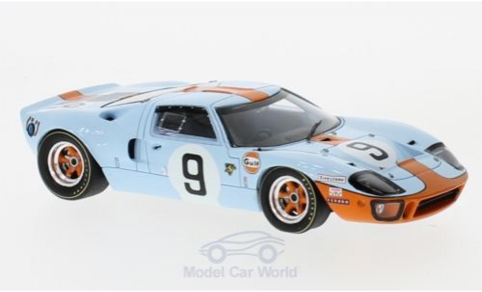 Ford GT40 1/43 Spark RHD No.9 Gulf 24h Le Mans 1968 P.Rodriguez/L.Bianchi
