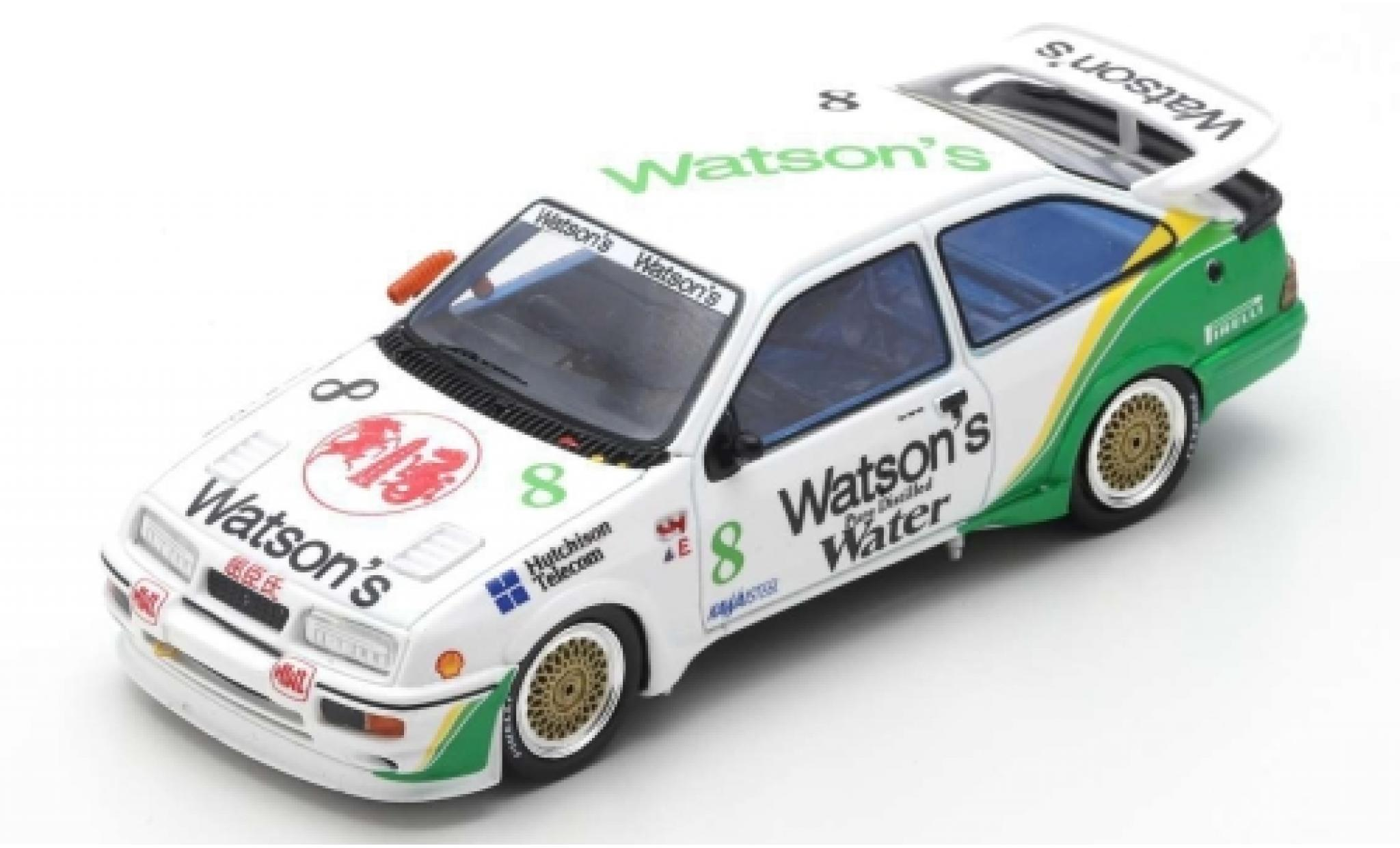 Ford Sierra 1/43 Spark RS500 Cosworth RHD No.8 Watsons Macau Guia Race 1989 T.Harvey