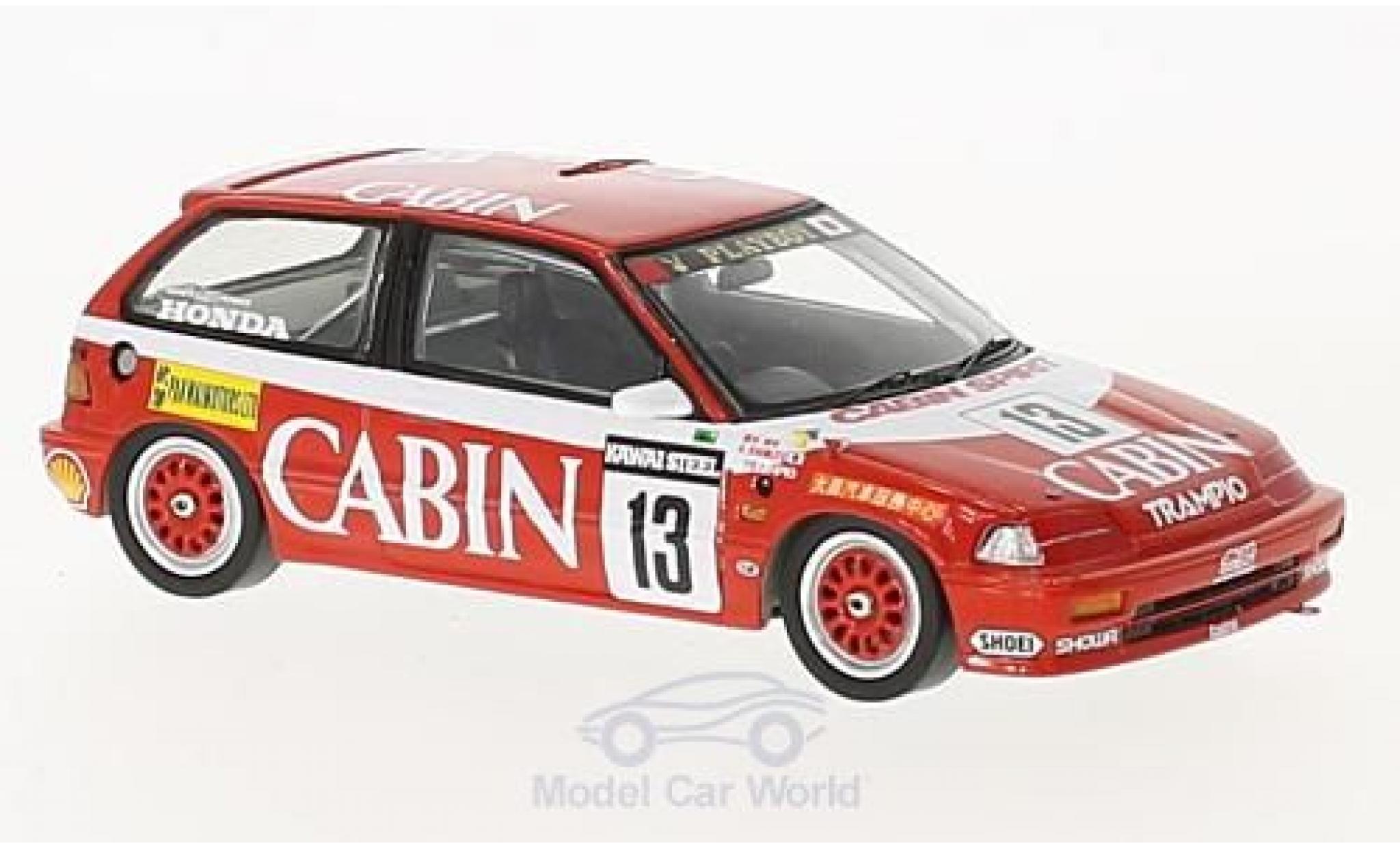 Honda Civic 1/43 Spark EF3 RHD No.13 Cabin Macau Guia Race 1988 K.Shimizu