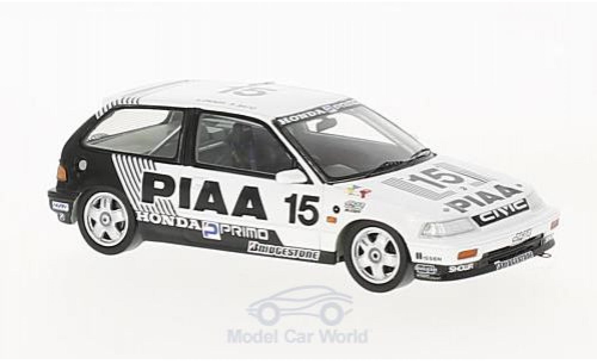 Honda Civic 1/43 Spark EF3 RHD No.15 PIAA JTC Suzuka 1989 H.Okada/K.Sato