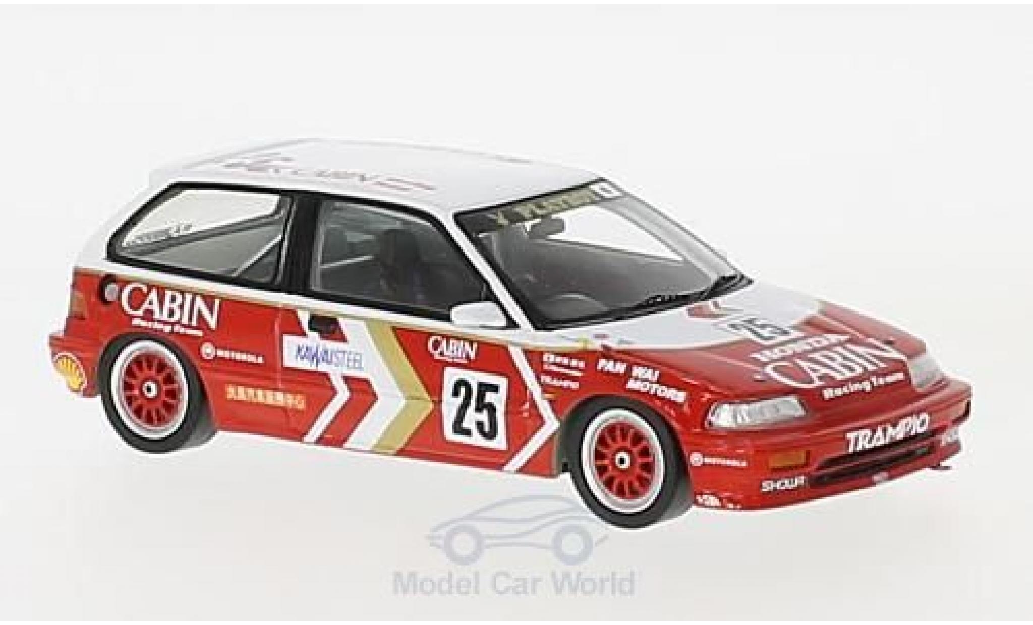 Honda Civic 1/43 Spark EF3 RHD No.25 Macau Guia Race 1989 Y.Muramatsu