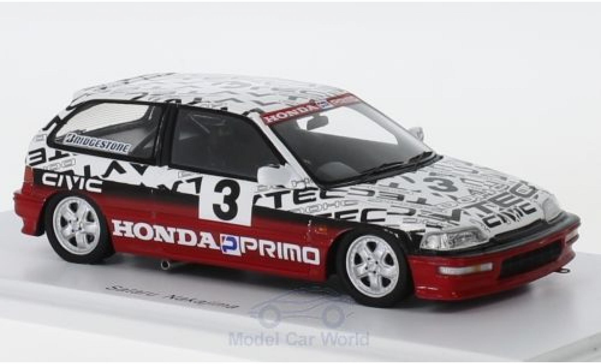 Honda Civic 1/43 Spark (EF9) Gr. N RHD No.3 Suzuka Test 1990 S.Nakajima