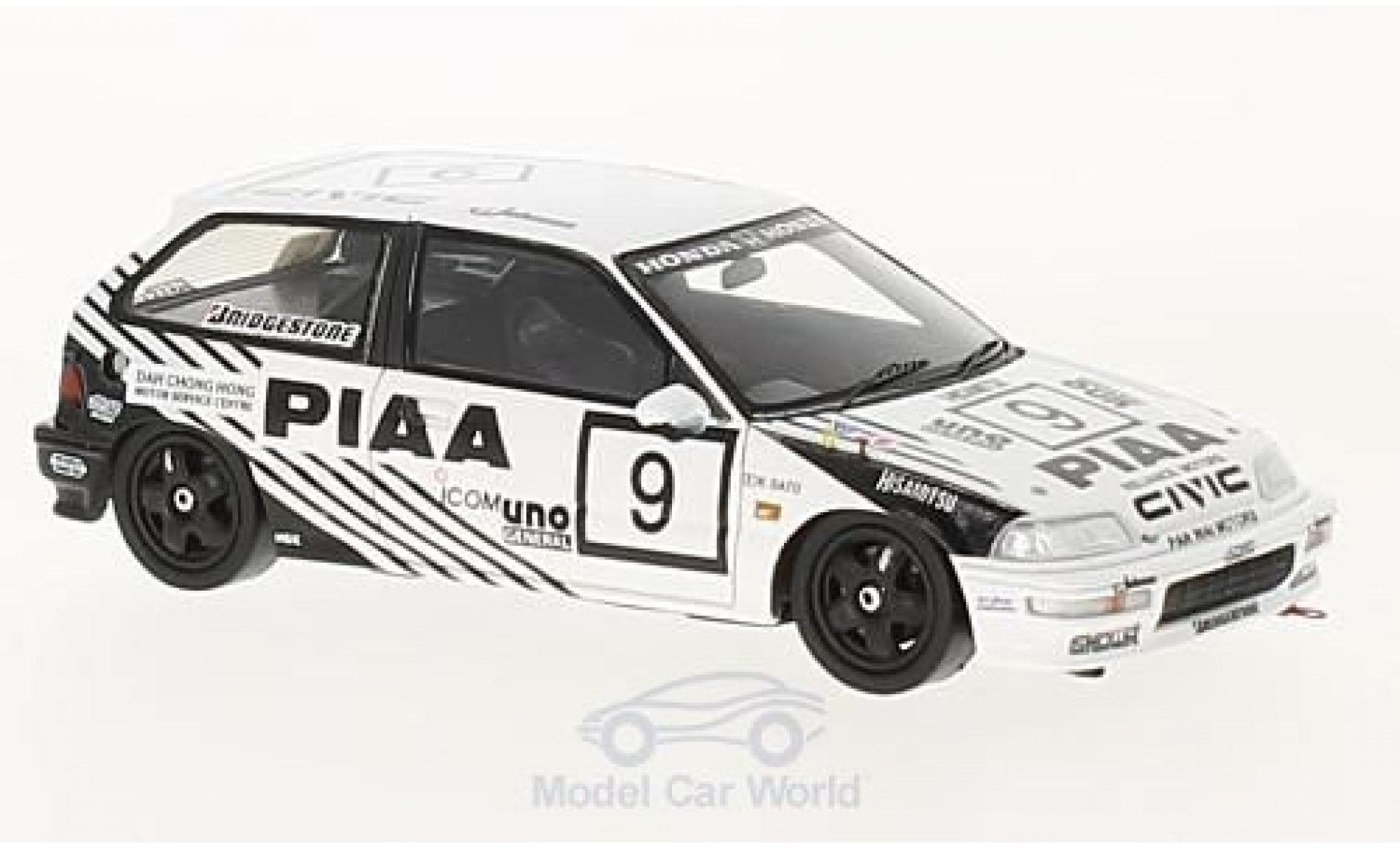 Honda Civic 1/43 Spark EF9 RHD No.9 PIAA Macau Guia Race 1990 K.Sato