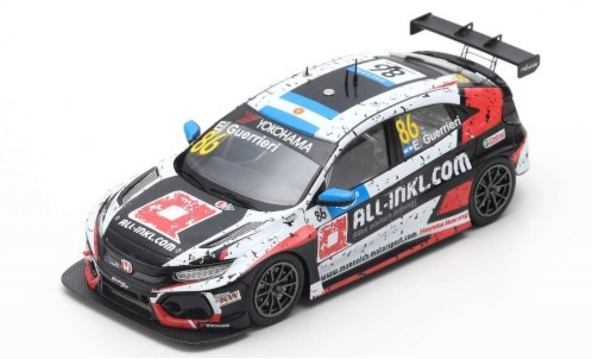 Honda Civic 1/43 Spark Type R TCR No.86 Münnich Motorsport ALL-INKL.-COM WTCR Marrakesh 2019 E.Guerrieri