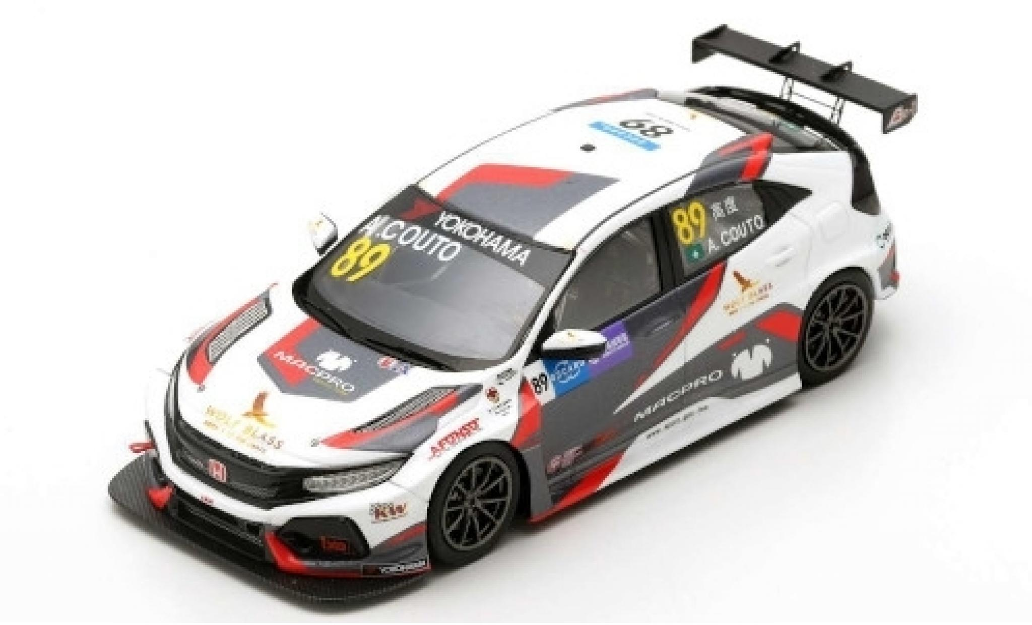 Honda Civic 1/43 Spark Type R TCR No.89 MacPro Racing Team WTCR Macau Guia Race 2018 A.Couto