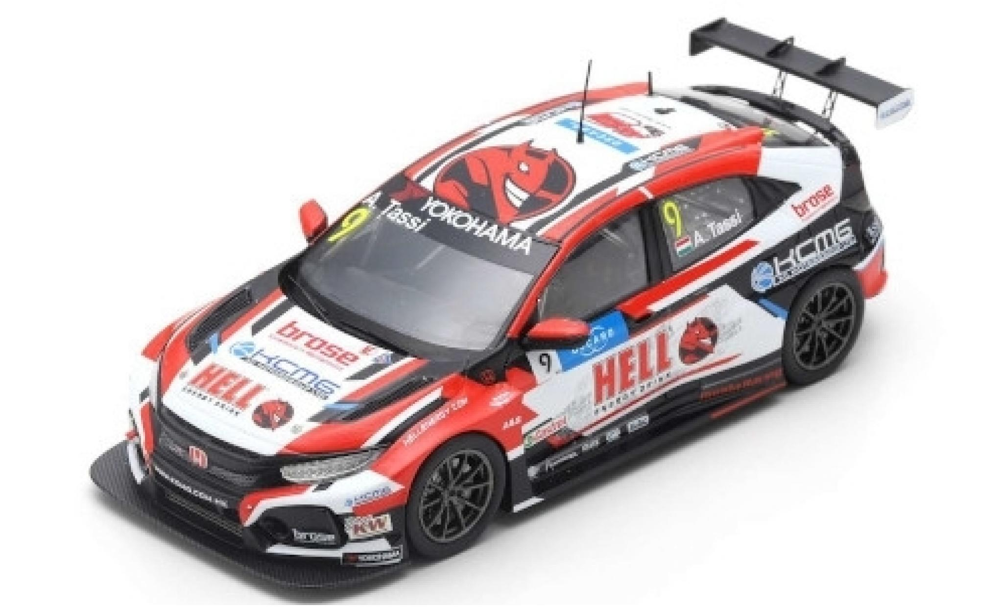 Honda Civic 1/43 Spark Type R TCR No.9 KCMG Hell Energy Drink WTCR Nürburgring 2019 A.Tassi