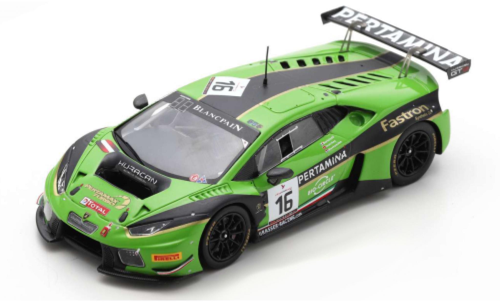Lamborghini Huracan 1/43 Spark GT3 No.16 GRT Grasser Racing Team 24h Spa 2016 M.Bortolotti/J.Bleekemolen/R.Ineichen