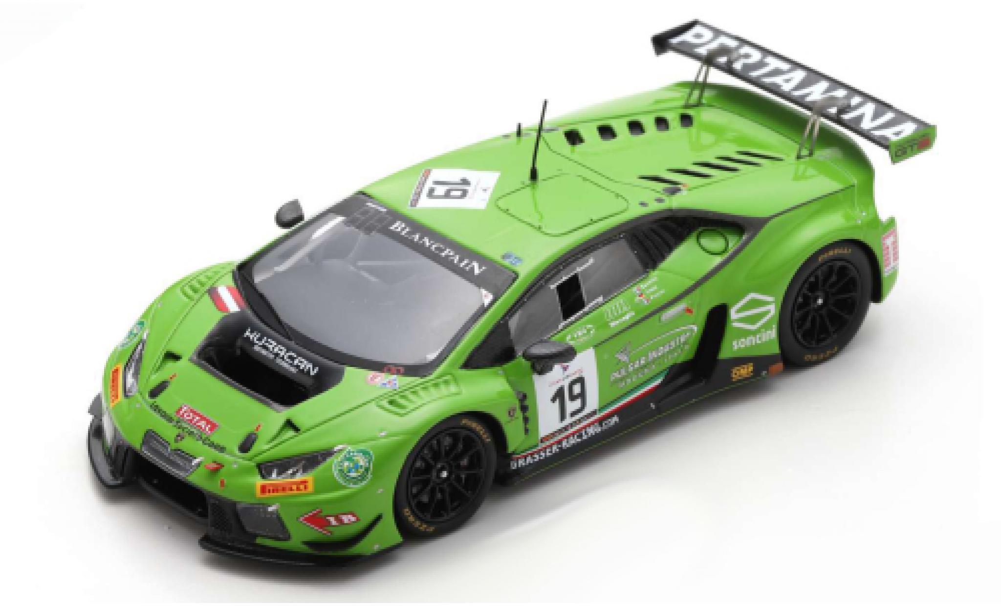 Lamborghini Huracan 1/43 Spark GT3 No.19 GRT Grasser Racing Team 24h Spa 2016 A.Piccini/L.Stolz/M.Beretta