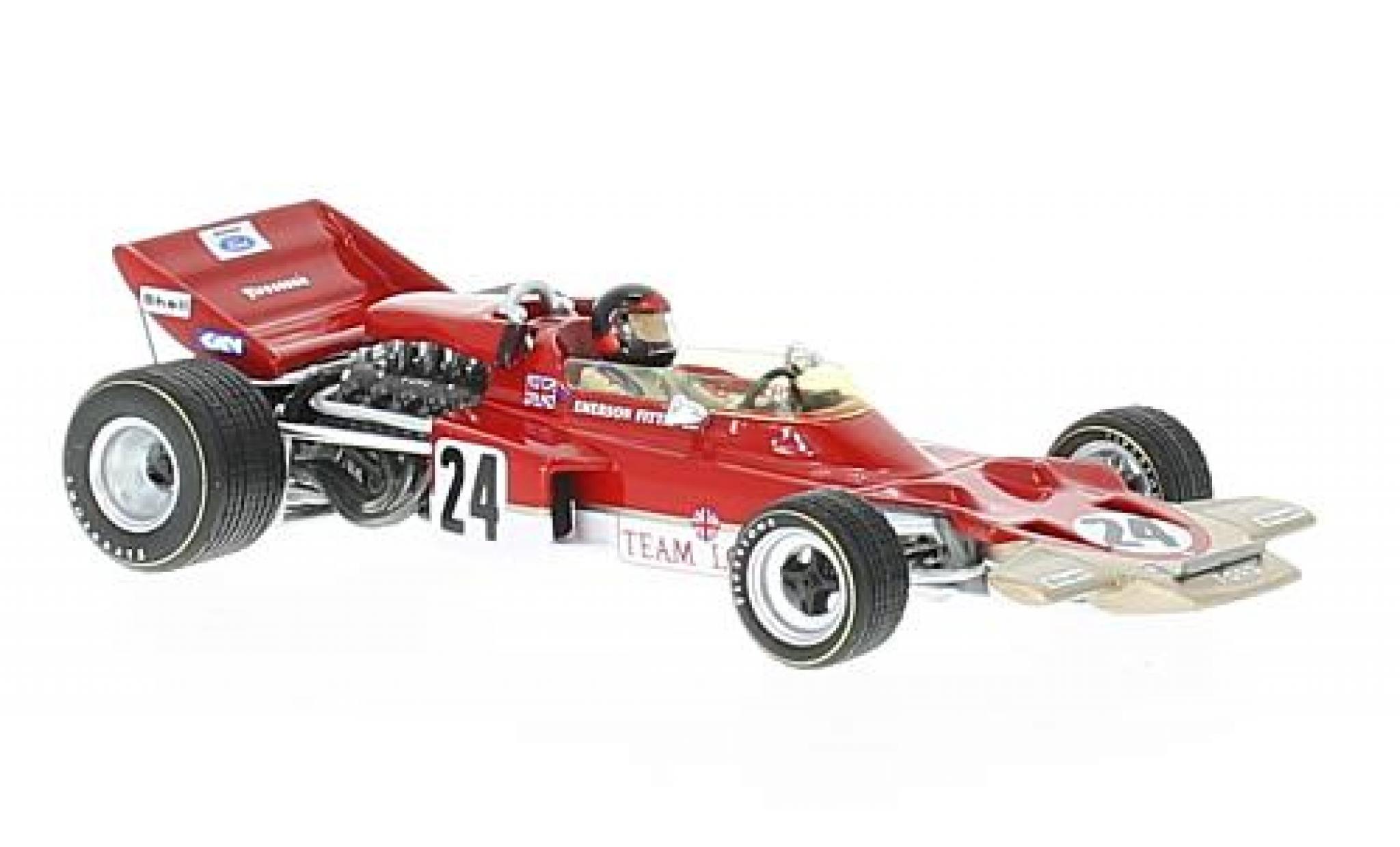 Lotus 72 1/43 Spark C No.24 Gold Leaf Formel 1 GP USA 1970 avec Decals E.Fittipaldi