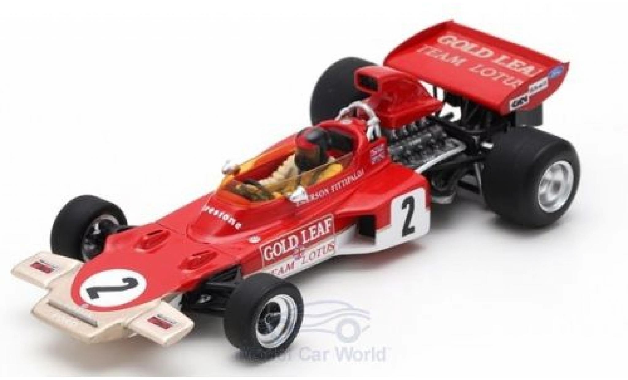 Lotus 72 1/43 Spark D No.2 Gold Leaf Formel 1 GP Österreich 1971 mit Decals E.Fittipaldi