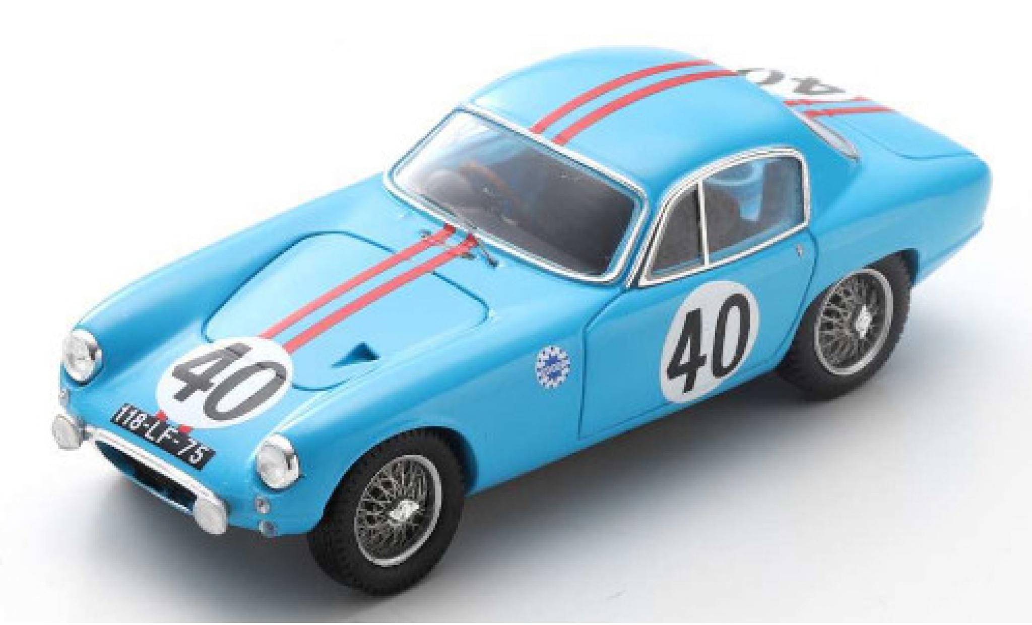Lotus Elite 1/43 Spark Mk1 No.40 Ecurie Edger 24h Le Mans 1961 B.Kosselek/P.Massenez