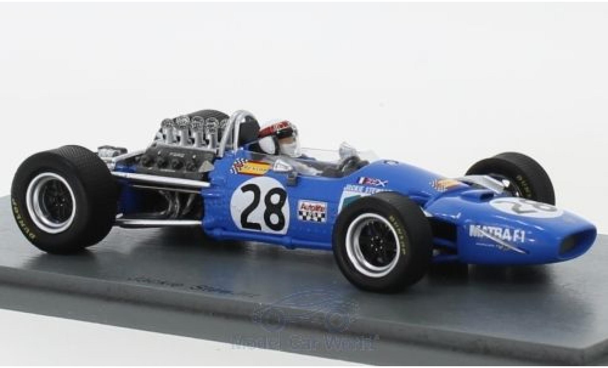 Matra MS1 1/43 Spark 0 No.28 Formel 1 GP Frankreich 1968 J.Stewart