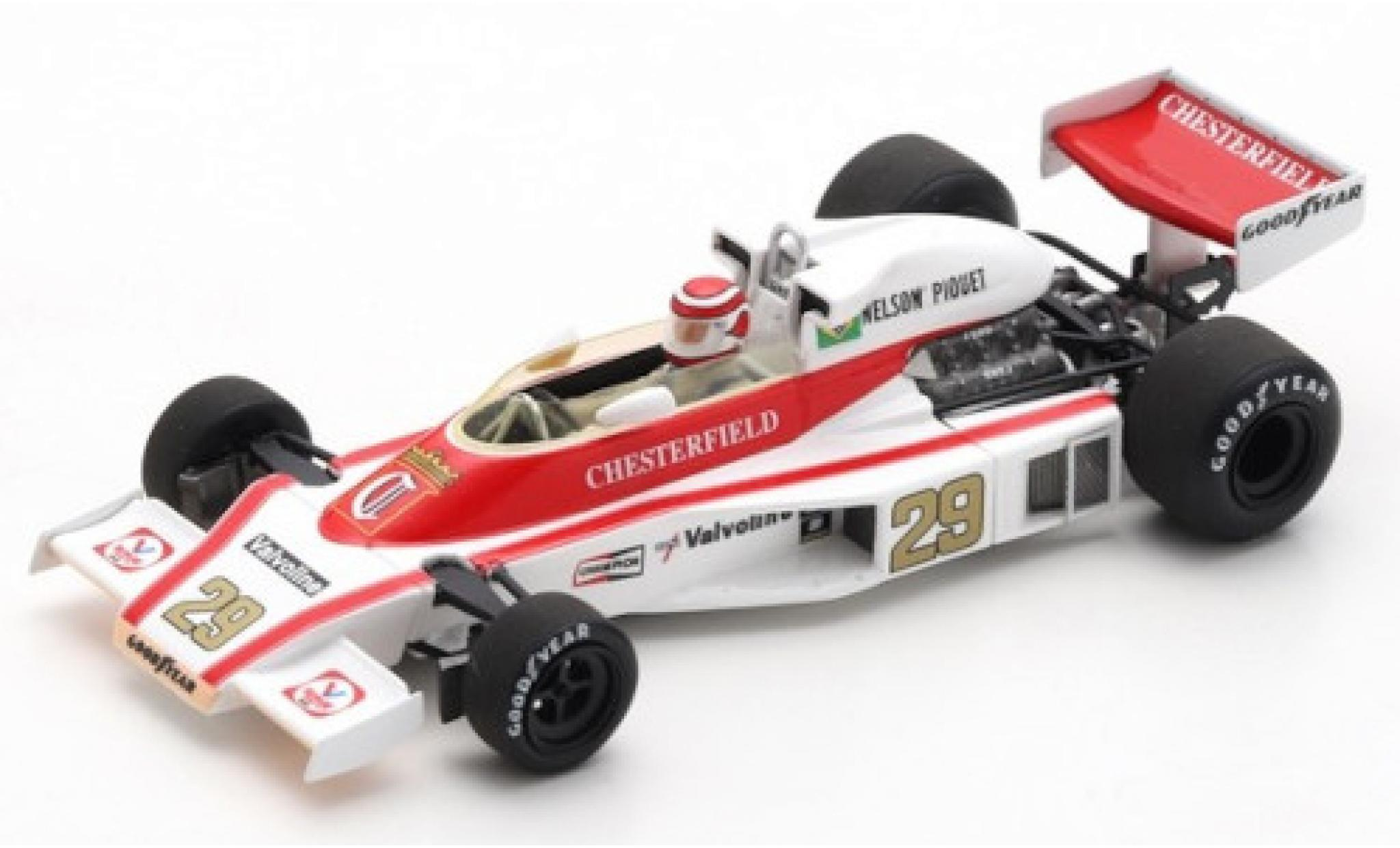 McLaren M23 1/43 Spark Ford No.29 Liggett Group / B&S Fabrications Chesterfield Formel 1 GP Österreich 1978 N.Piquet