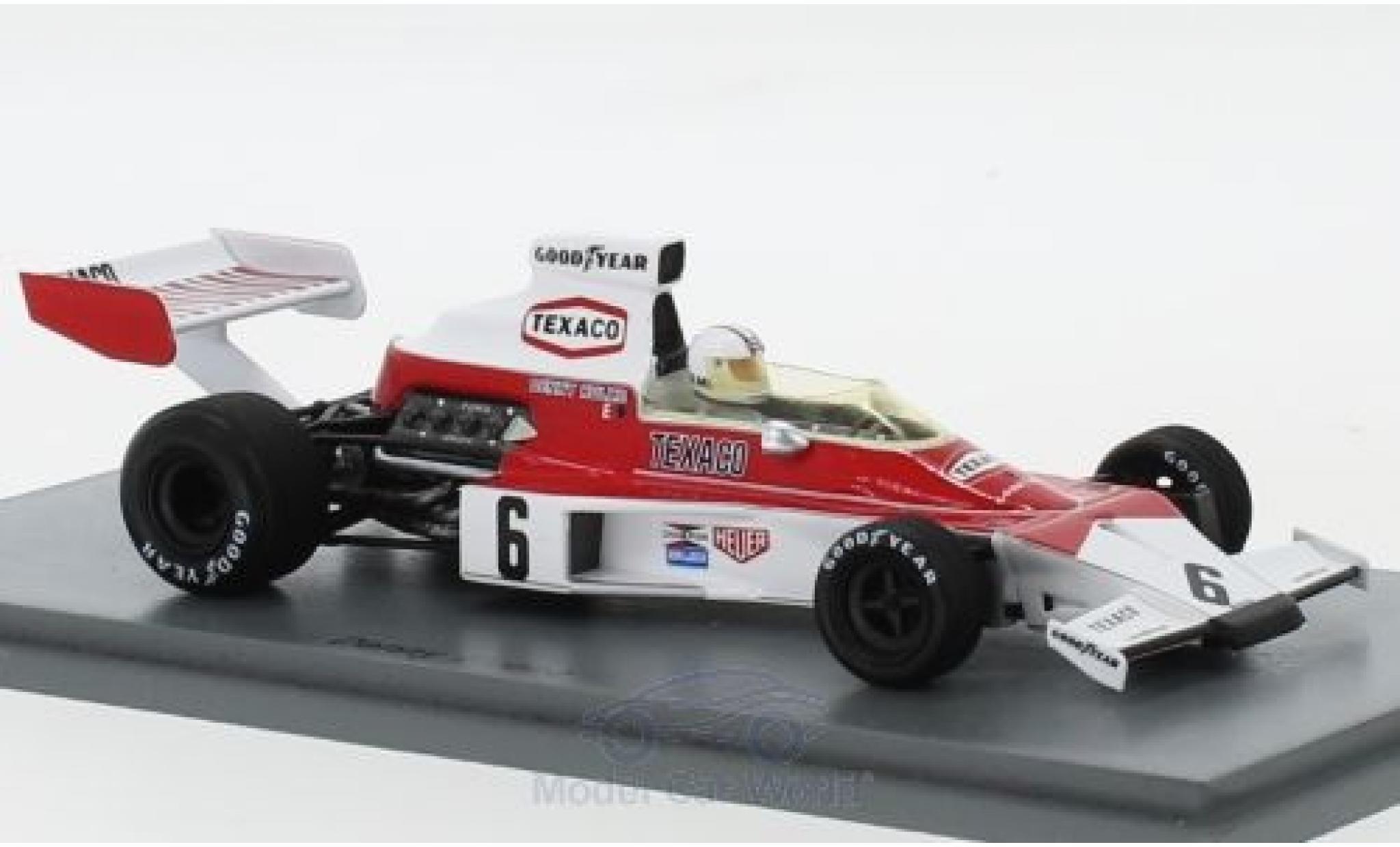 McLaren M23 1/43 Spark No.6 Texaco Formel 1 GP Argentinien 1974 D.Hulme