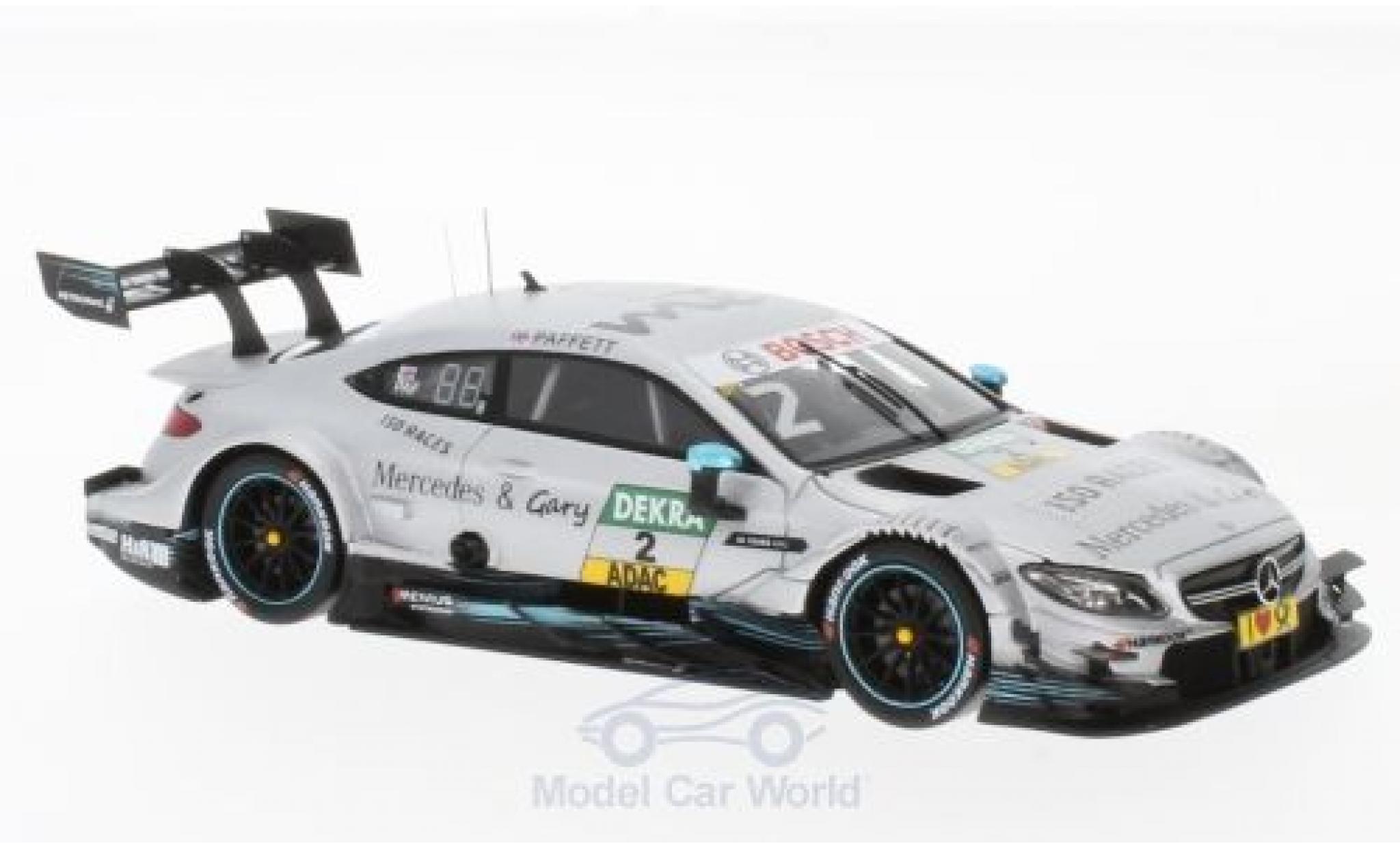 Mercedes Classe C DTM 1/43 Spark AMG C 63 No.2 -AMG Team HWA Lausitzring 2017 150 Races & Gary G.Paffett