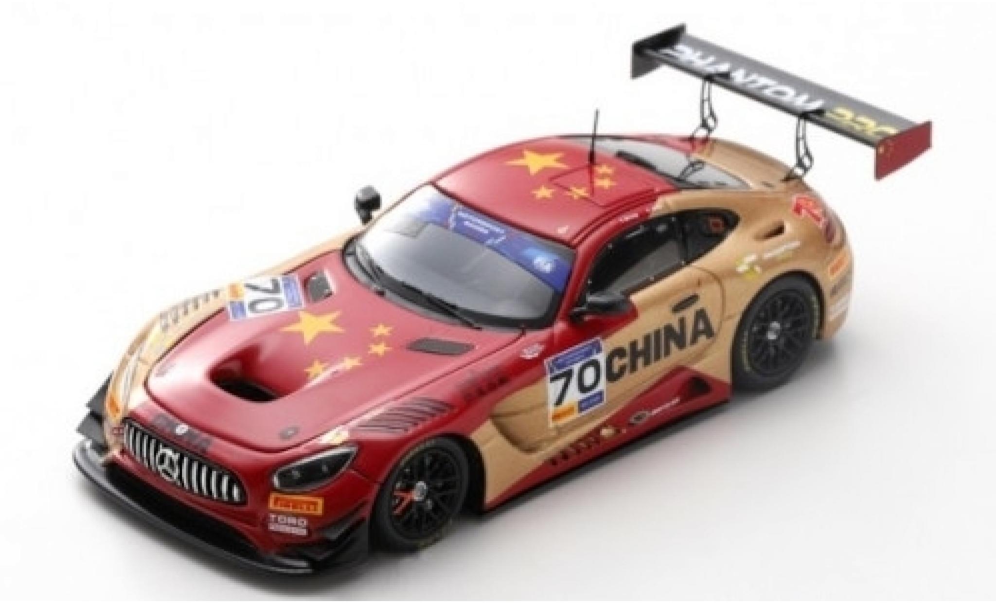Mercedes AMG GT 1/43 Spark 3 No.70 Phantom Pro FIA Motorsport Games GT Cup Vallelunga 2019 Team China Y.Zhang/K.Zang