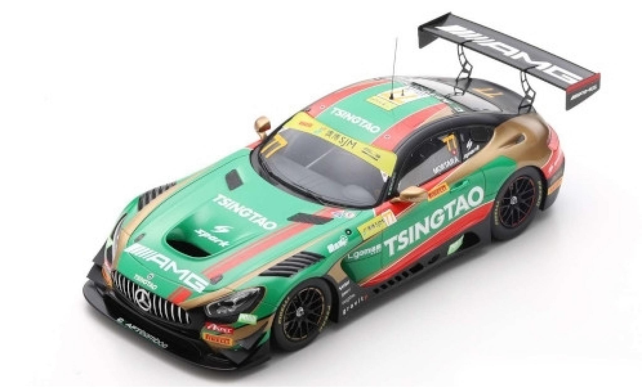 Mercedes AMG GT 1/18 Spark 3 No.77 -AMG Team CraftBamboo Racing Tsingtao Fia GT World Cup Macau 2019 E.Mortara