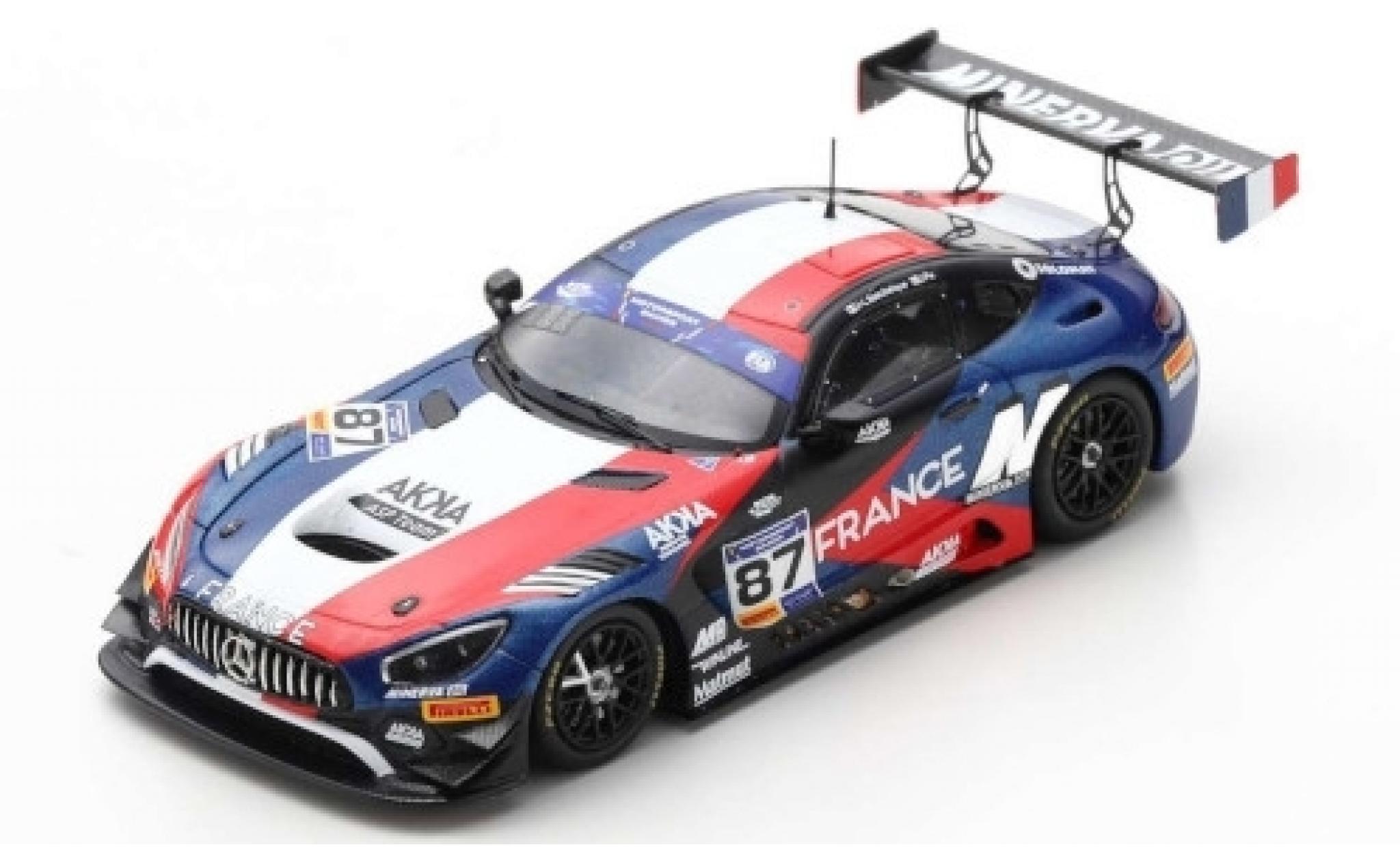 Mercedes AMG GT 1/43 Spark 3 No.87 ASP Team FIA Motorsport Games GT Cup Vallelunga 2019 Team France J-L.Beaubelique/J.Pla