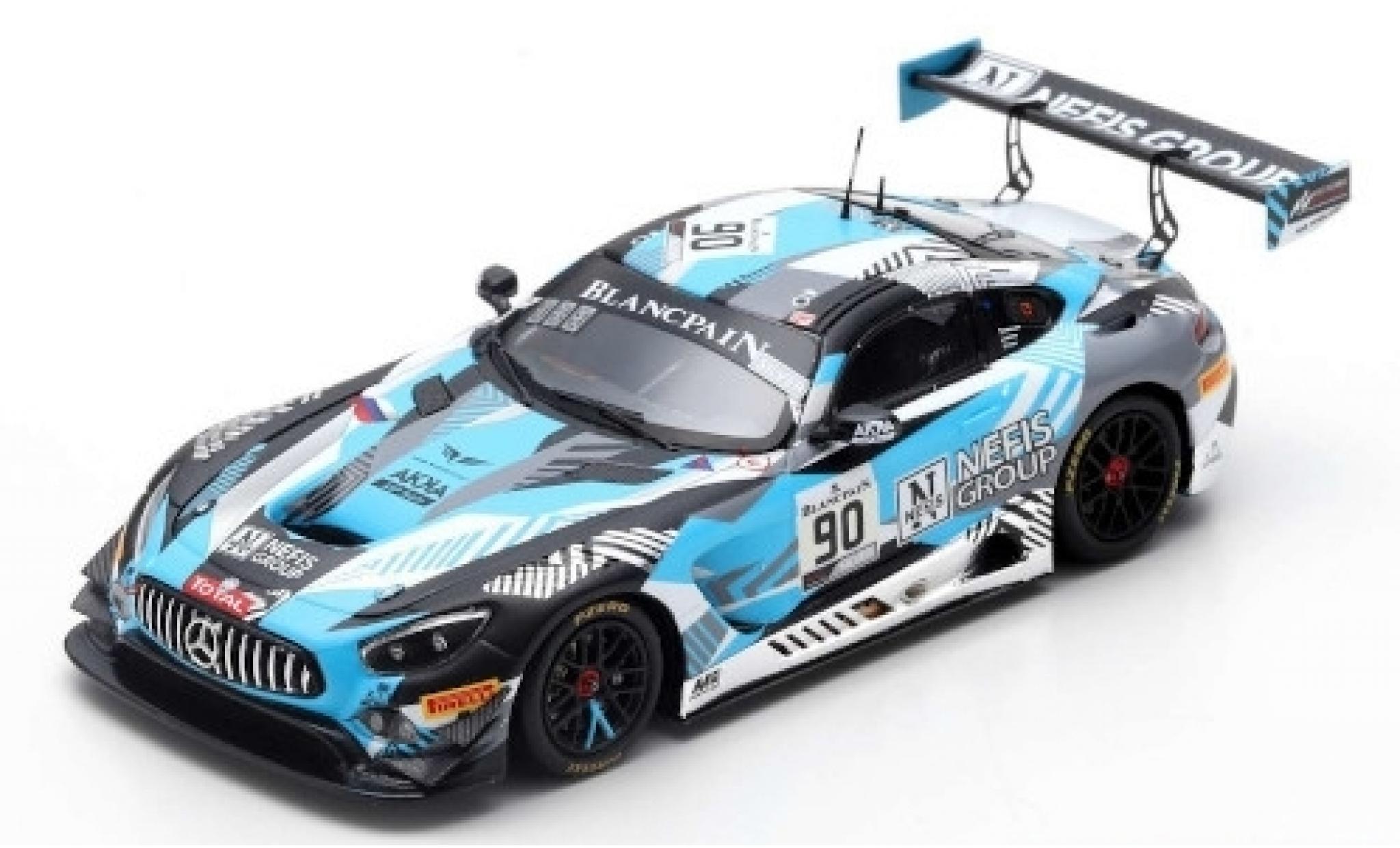Mercedes AMG GT 1/43 Spark 3 No.90 Akka ASP Team Nefis Group 24h Spa 2019 N.Bastian/T.Boguslavskiy/F.Fraga
