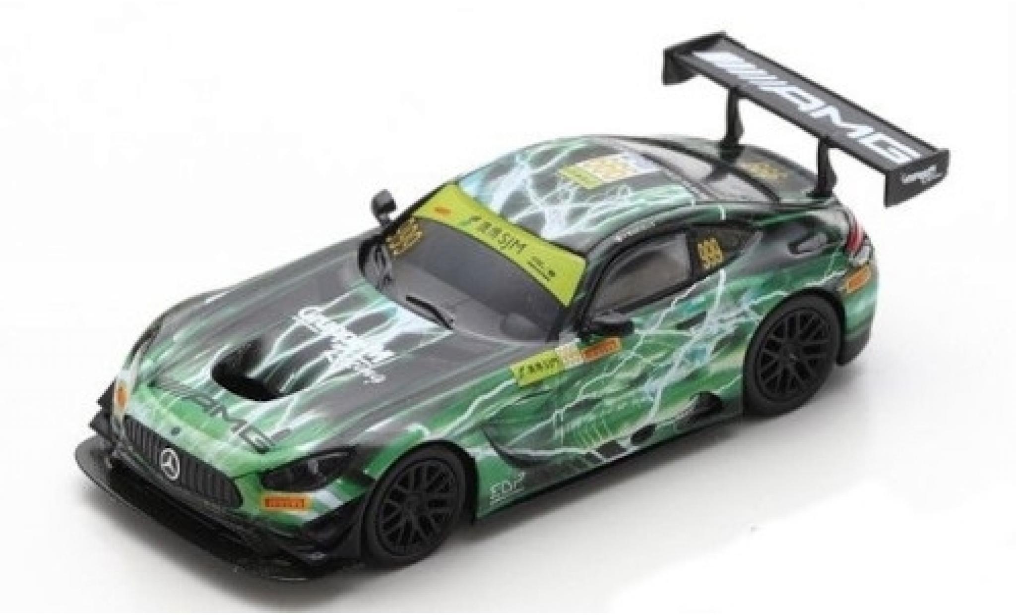 Mercedes AMG GT 1/18 Spark 3 No.999 -AMG Team GruppeM Racing Fia GT World Cup Macau 2019 R.Marciello