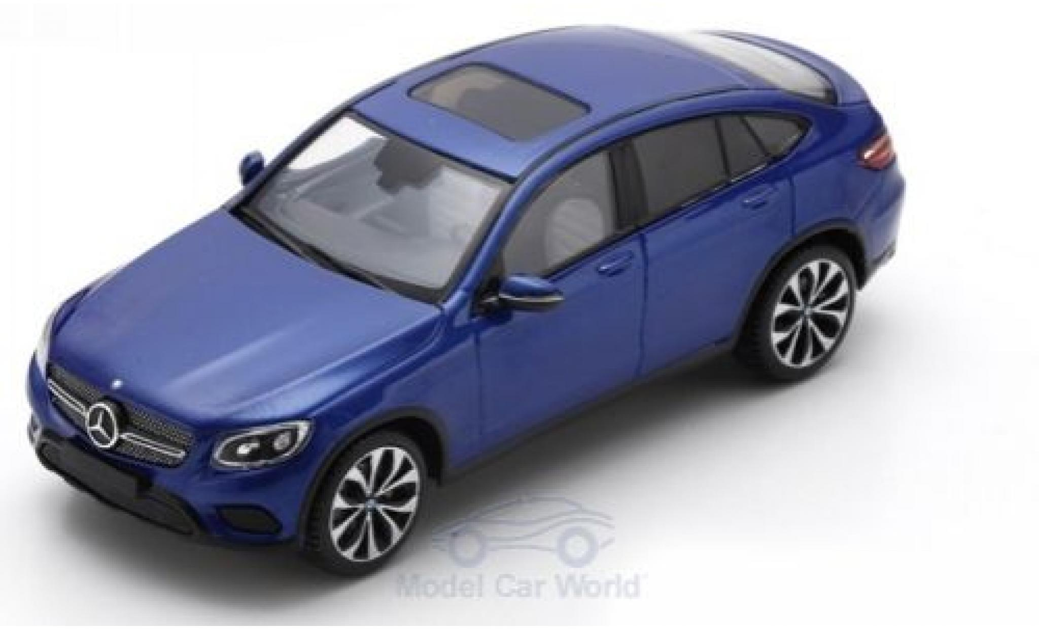 Mercedes Classe GLC 1/43 Spark GLC Coupe metallise bleue 2016