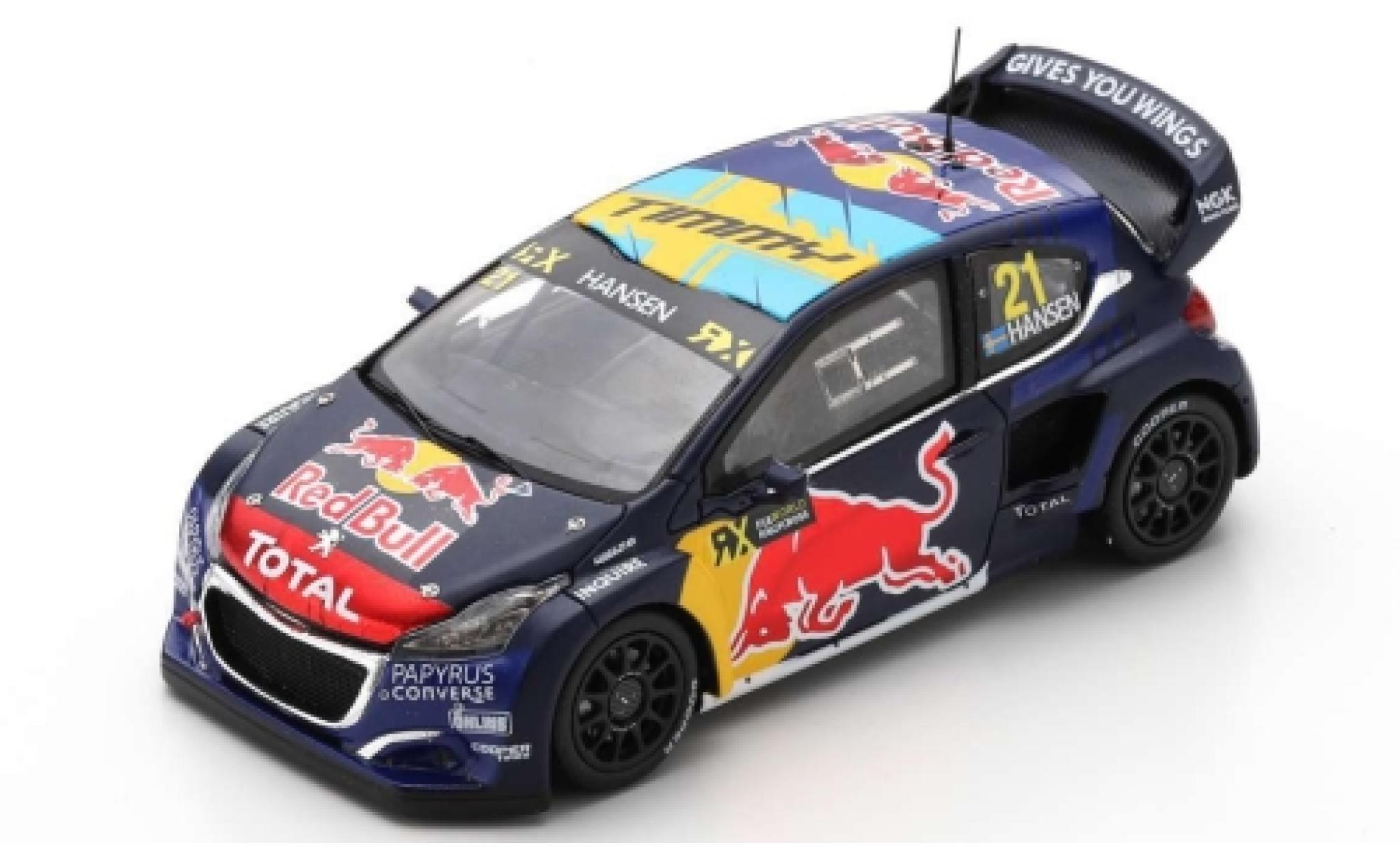 Peugeot 208 1/43 Spark WRX No.21 Red Bull / Total World RX Spanien 2019 T.Hansen