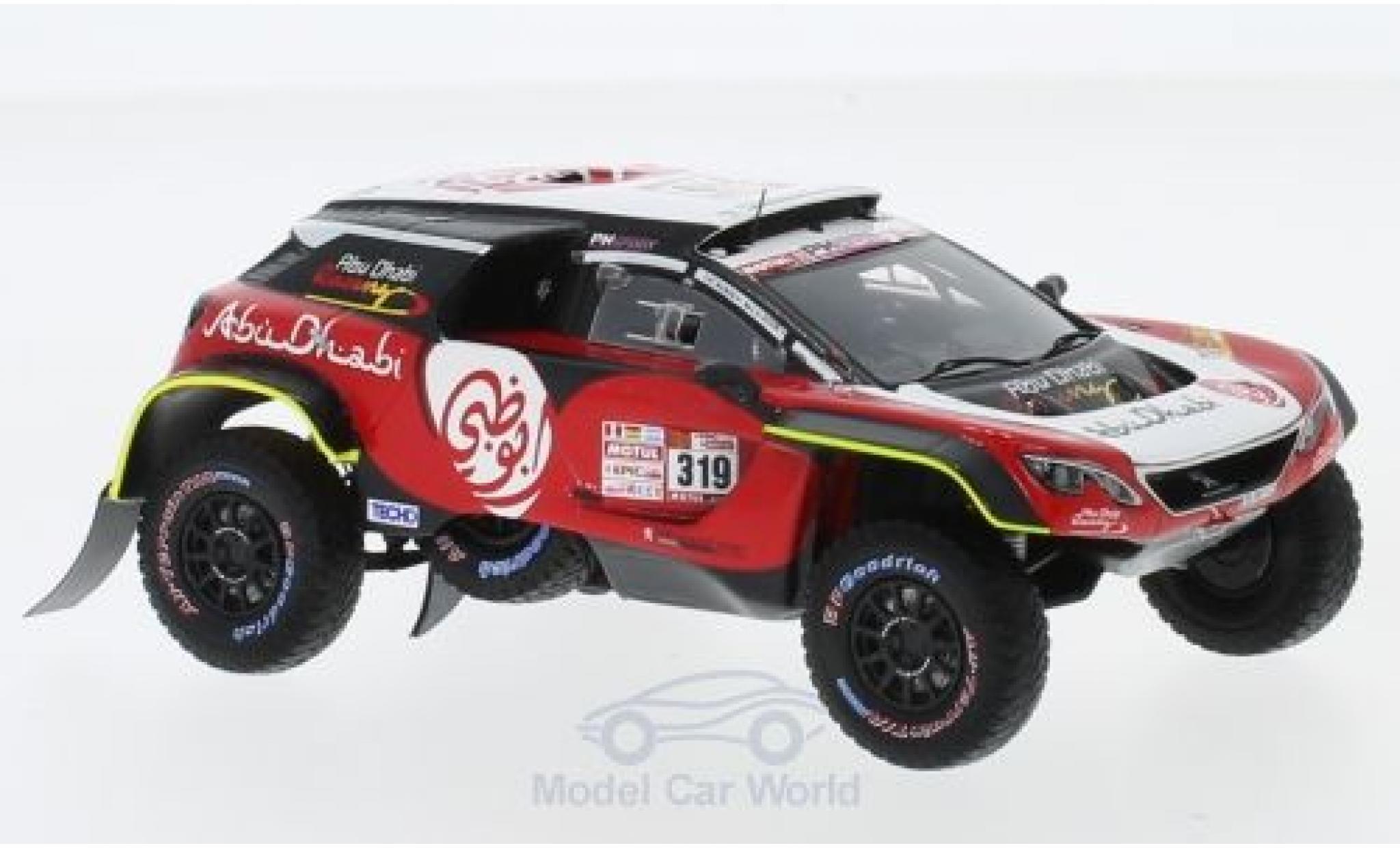 Peugeot 3008 1/43 Spark DKR Maxi No.319 PH-Sport Abu Dhabi Rallye Dakar 2018 K.AI Qassimi/P.Maimom
