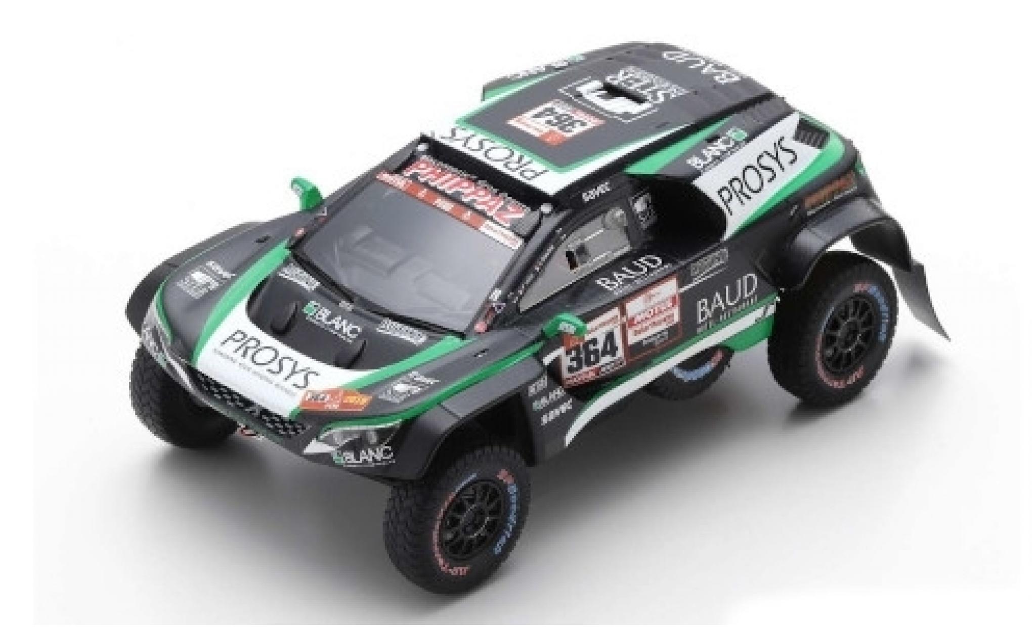 Peugeot 3008 1/43 Spark DKR Maxi No.364 Easy Rally Rallye Dakar 2019 P.Lafay/S.Delaunay