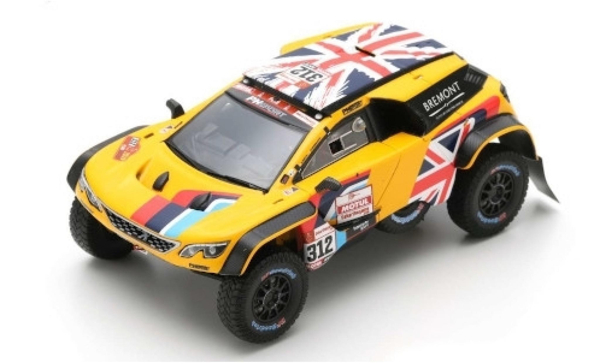 Peugeot 3008 1/43 Spark DKR No.312 PH-Sport Rallye Dakar 2019 H.Hunt/W.Rosegaar