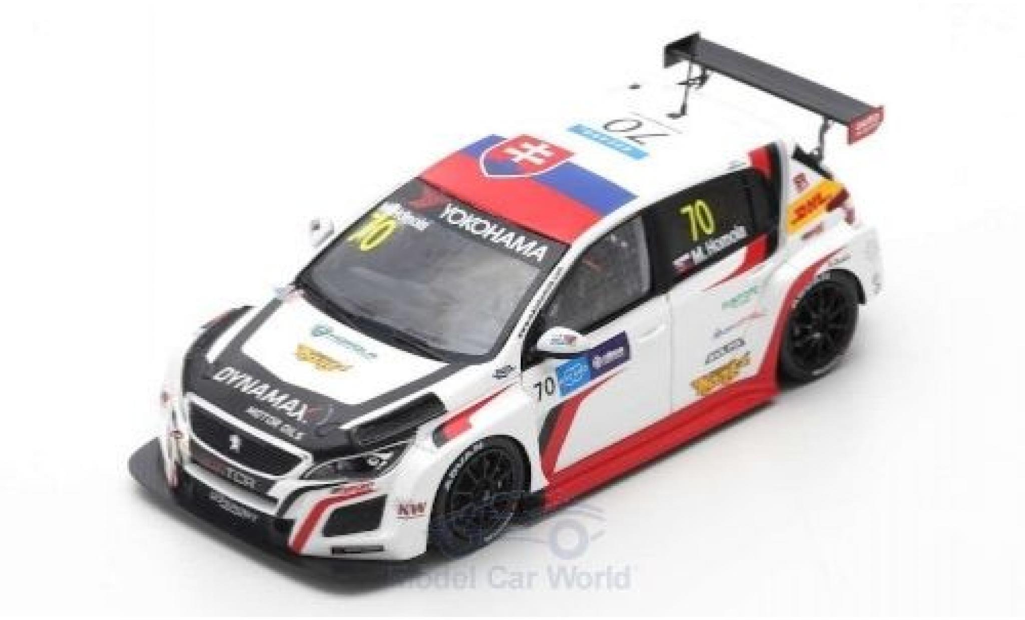 Peugeot 308 1/43 Spark TCR No.70 DG Sport Competition Race WTCR Macau Guia Race 2018 M.Homola