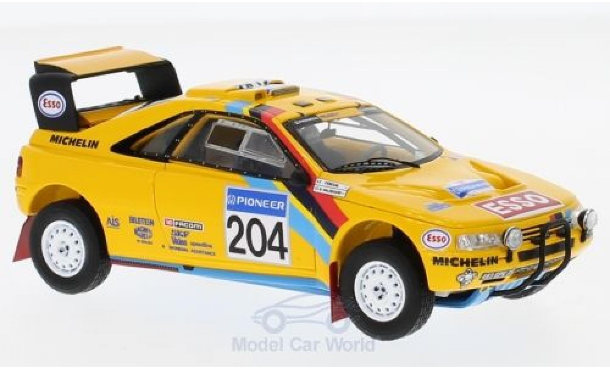 Peugeot 405 1/43 Spark T16 Grand Raid No.204 Camel Rallye Paris Dakar 1990 mit Decals B.Waldegard/J.-C.Fenouil