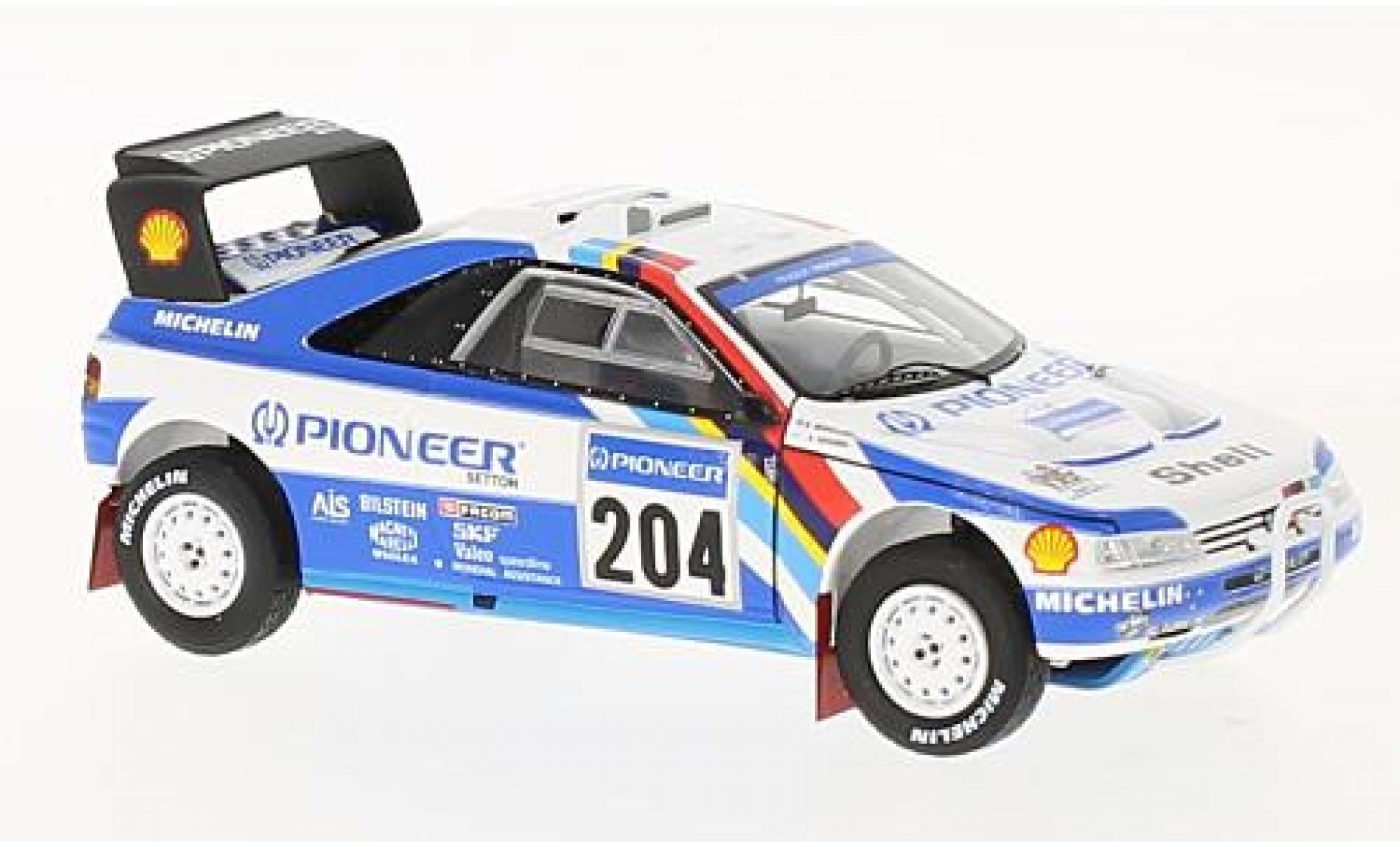Peugeot 405 1/43 Spark T16 Grand Raid No.204 Pioneer Rallye Dakar Paris 1989 A.Vatanen/B.Berglund