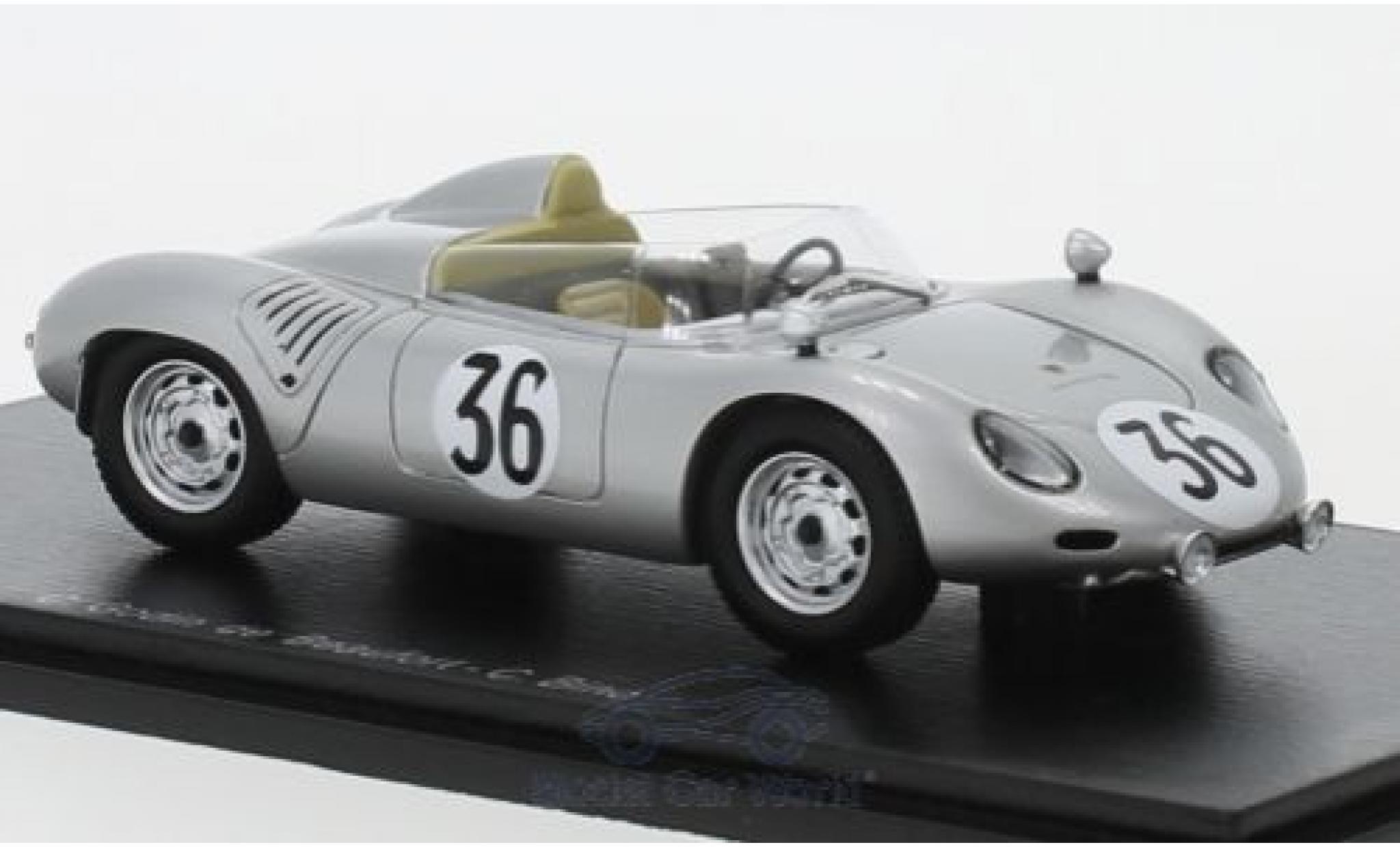 Porsche 718 1/43 Spark RSK No.36 24h Le Mans 1959 C.Godin de Beaufort/C.Heins
