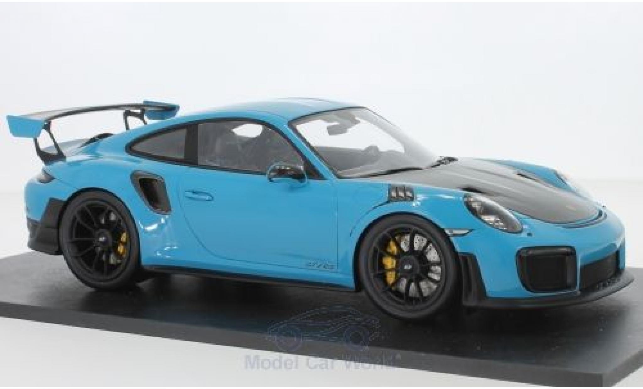 Porsche 991 GT2 RS 1/18 Spark 911 (.2) blue/carbon 2018