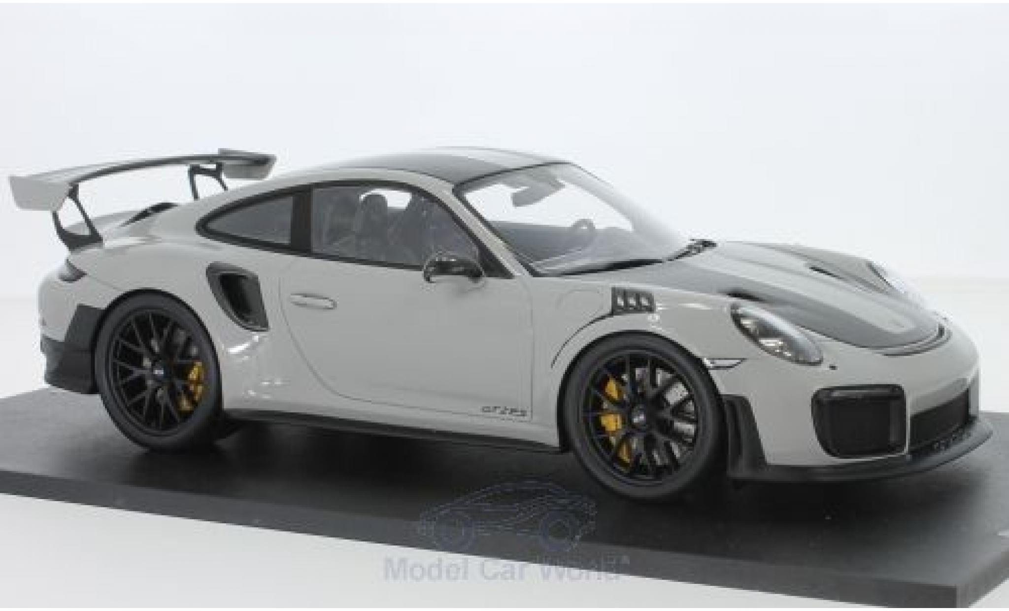 Porsche 911 1/18 Spark (991.2) GT2 RS grise/carbon 2018 Weissach Package