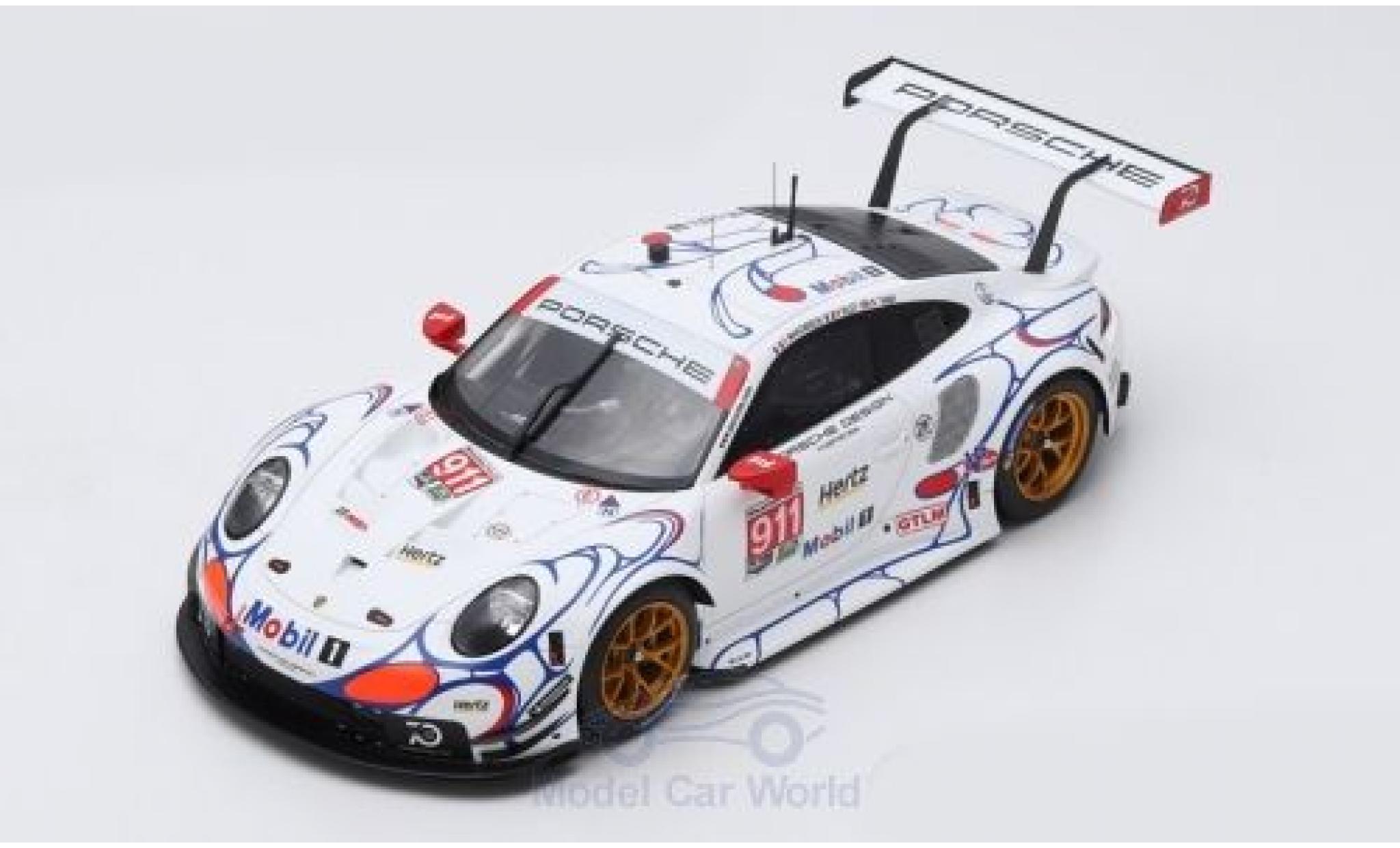 Porsche 991 RSR 1/18 Spark 911 (.2) No.911 GT Team Petit Le Mans 2018 P.Pilet/N.Tandy/F.Makowiecki