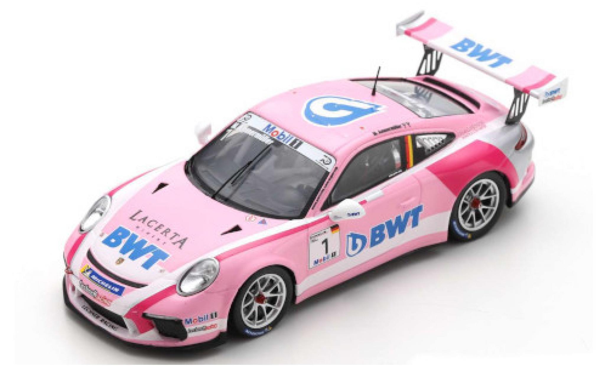 Porsche 991 GT3 Cup 1/43 Spark 911  No.1 BWT Supercup 2018 M.Ammermüller