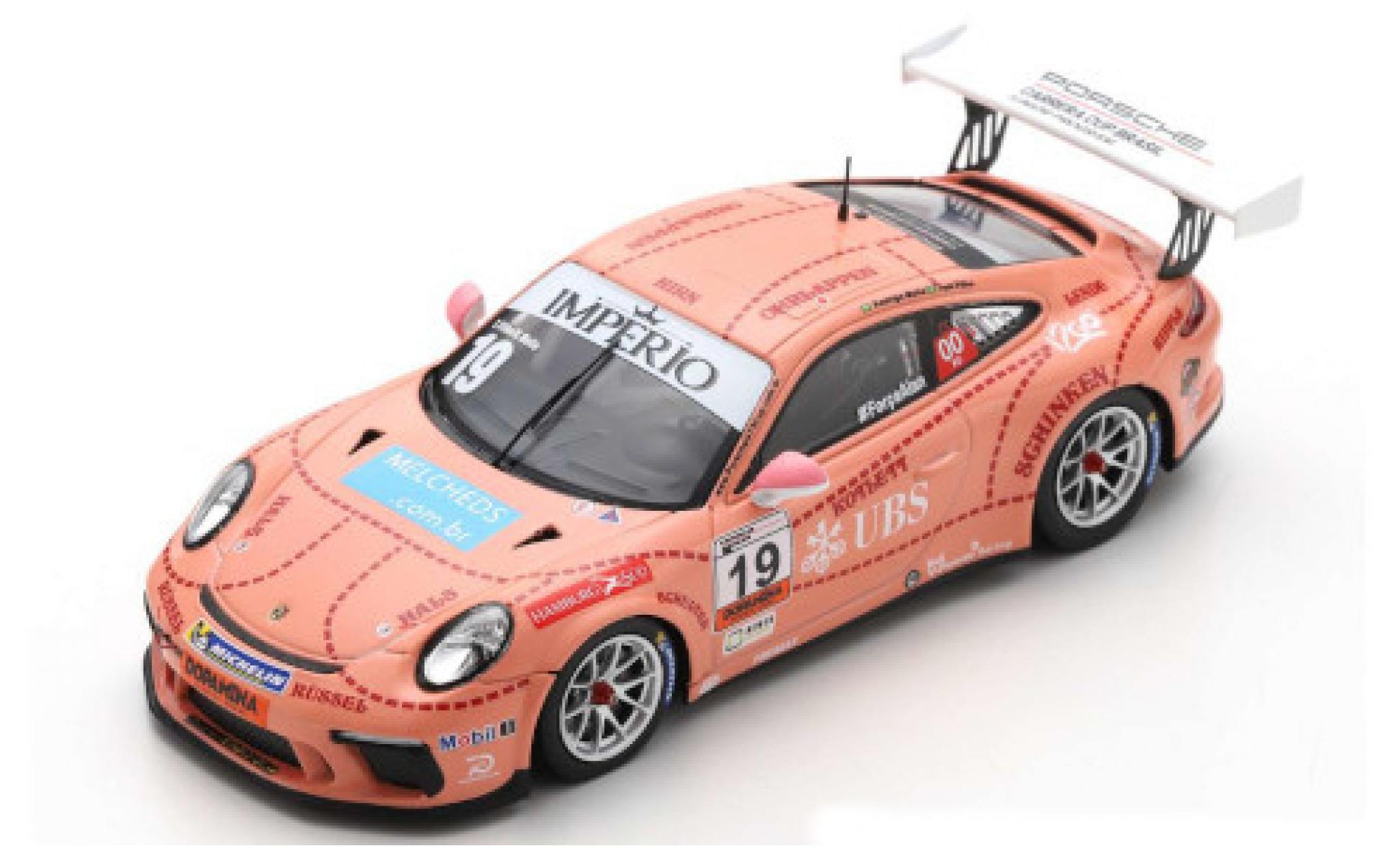 Porsche 991 GT3 Cup 1/43 Spark 911  No.19 Carrera Cup Brasilien 2018 T.Filho/R.Mello