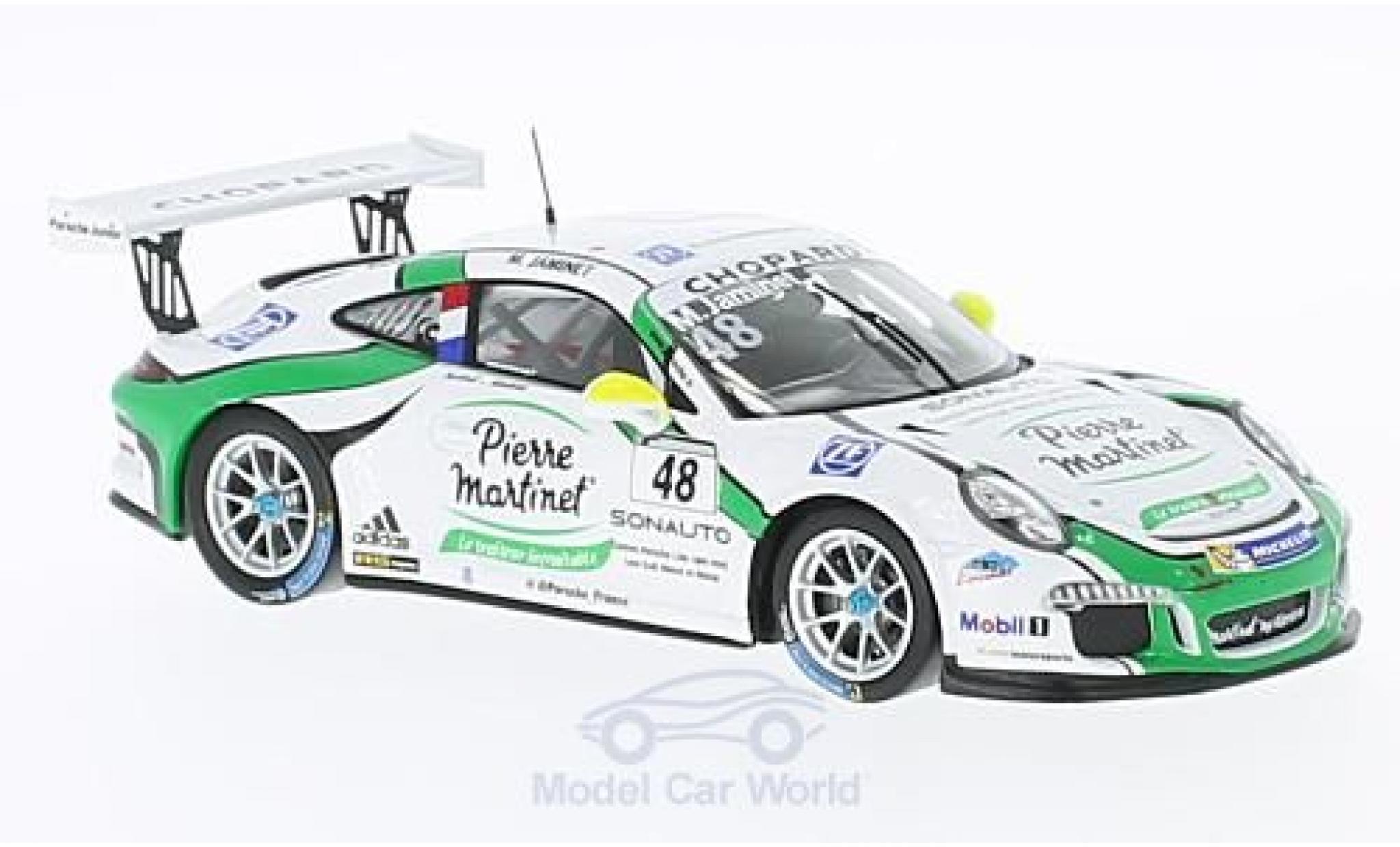 Porsche 991 GT3 Cup 1/43 Spark 911  No.48 Carrera Cup France 2016 M.Jaminet
