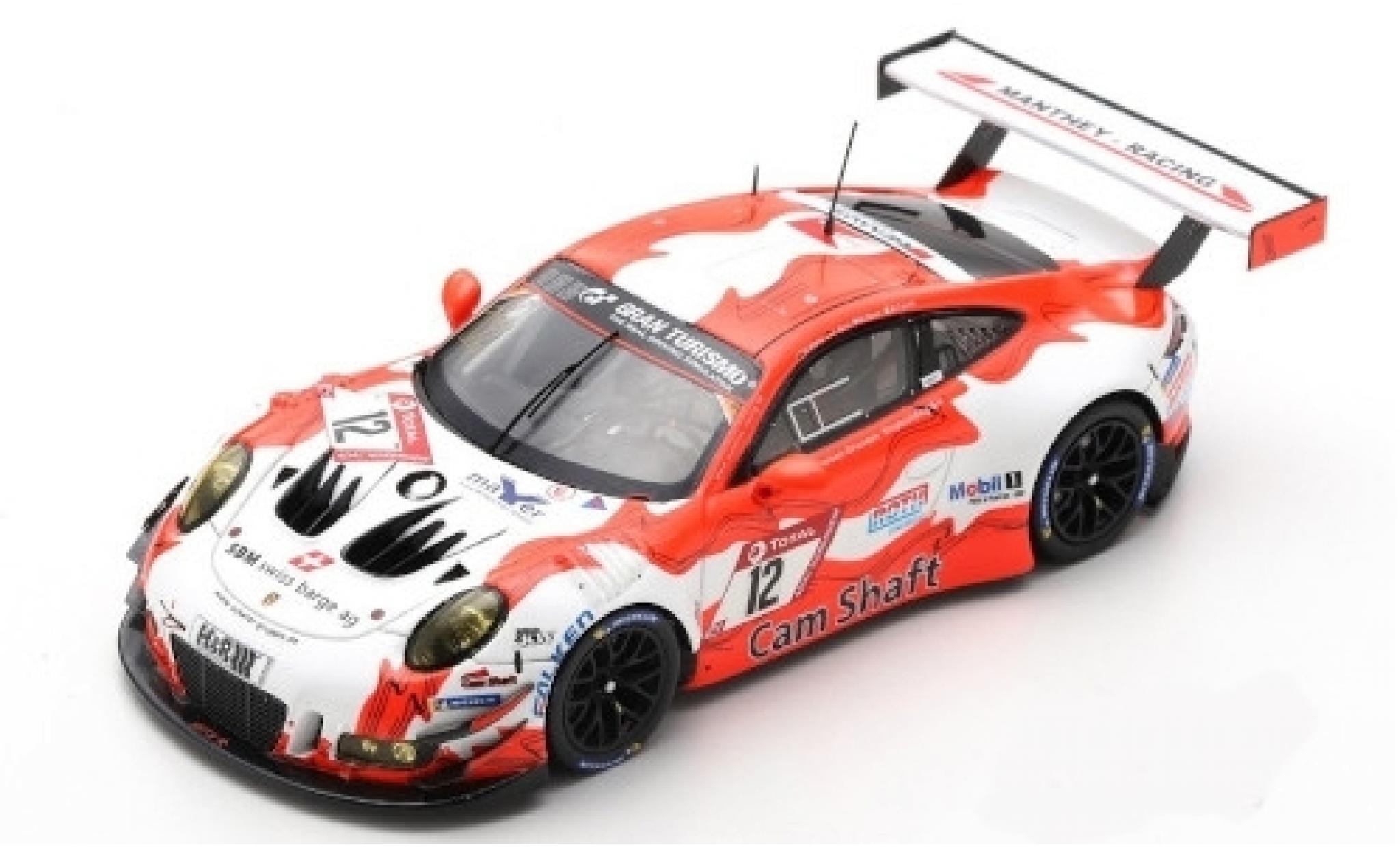 Porsche 992 GT3 R 1/43 Spark 911 (991) No.12 Manthey-Racing 24h Nürburgring 2019 O.Klohs/L.Kern/D.Olsen/M.Cairoli